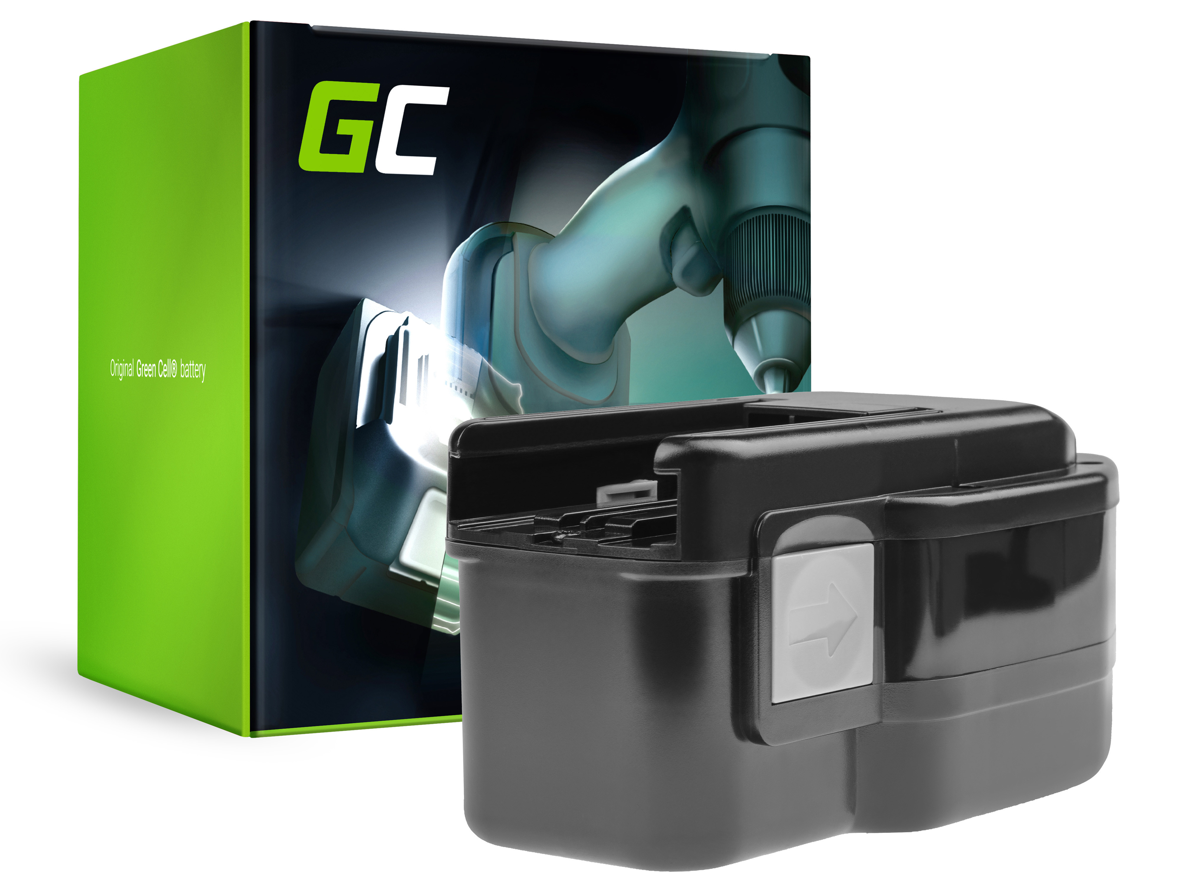 Green Cell Power Tool Battery 48-11-2320 for Milwaukee PES PIW PSH PSX PWS 18 Loktor H P S 18 AEG B18 BBM BDSE BXL BSX 18