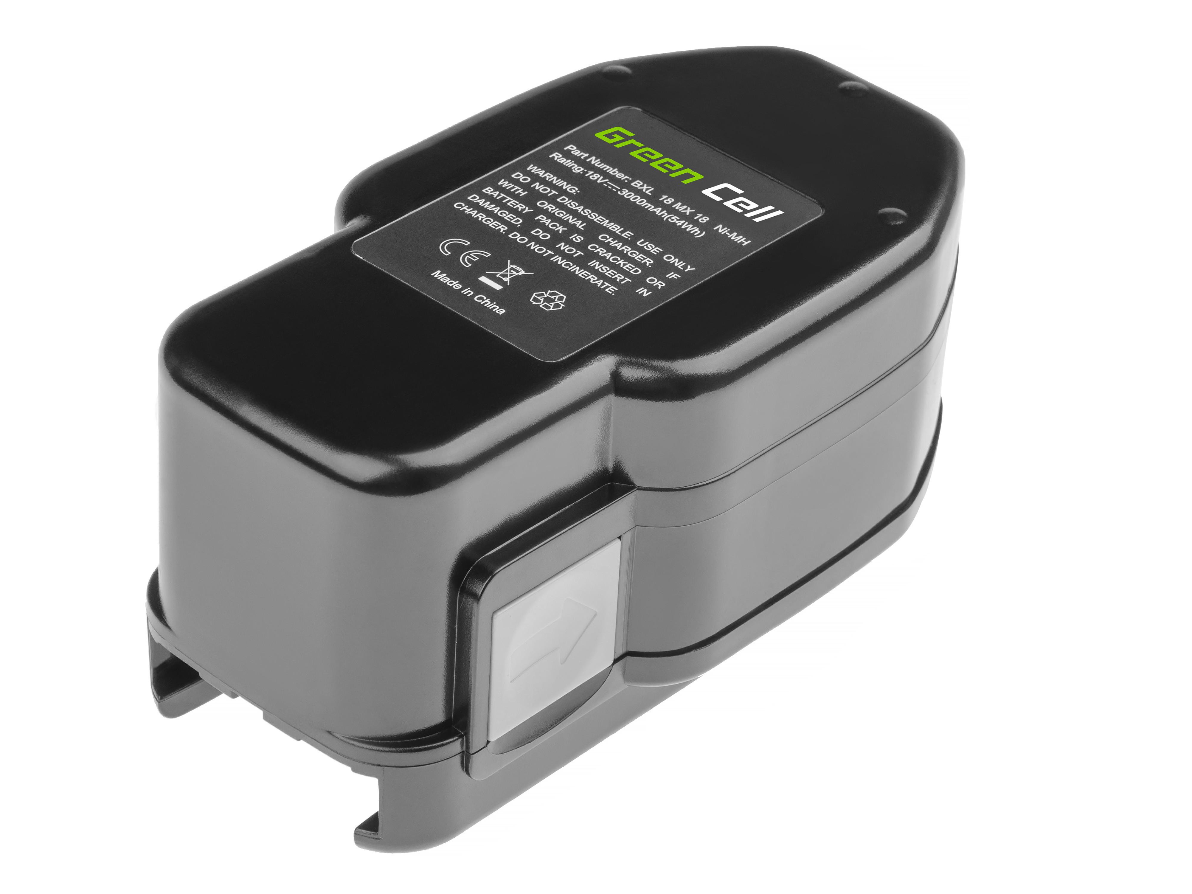 Baterie Green Cell Milwaukee 48-11-2320 PES PIW PSH PSX PWS 18 AEG B18 BBM BDSE BXL BSX 18 18V 3000mAh Ni-MH – neoriginální