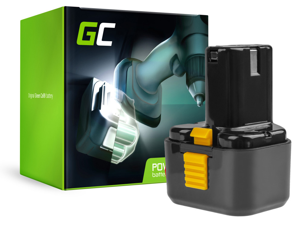 Green Cell Power Tool akkumulátor Green Cell EB9B EB926H EB930H 9.6V 2Ah Hitachi