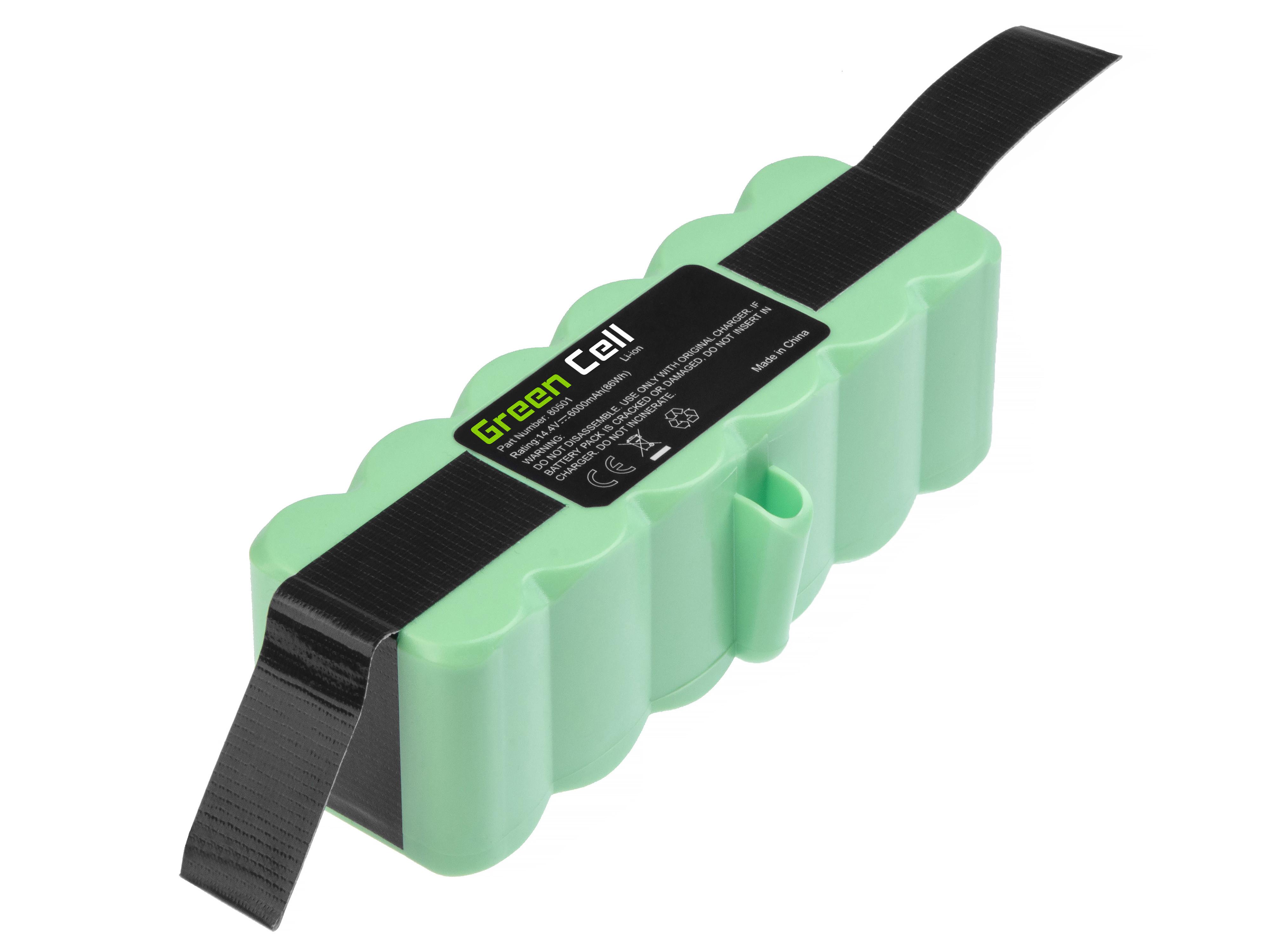 Baterie Green Cell iRobot Roomba 500 630 14.4V 14.4V 6000mAh Li-ion - neoriginální