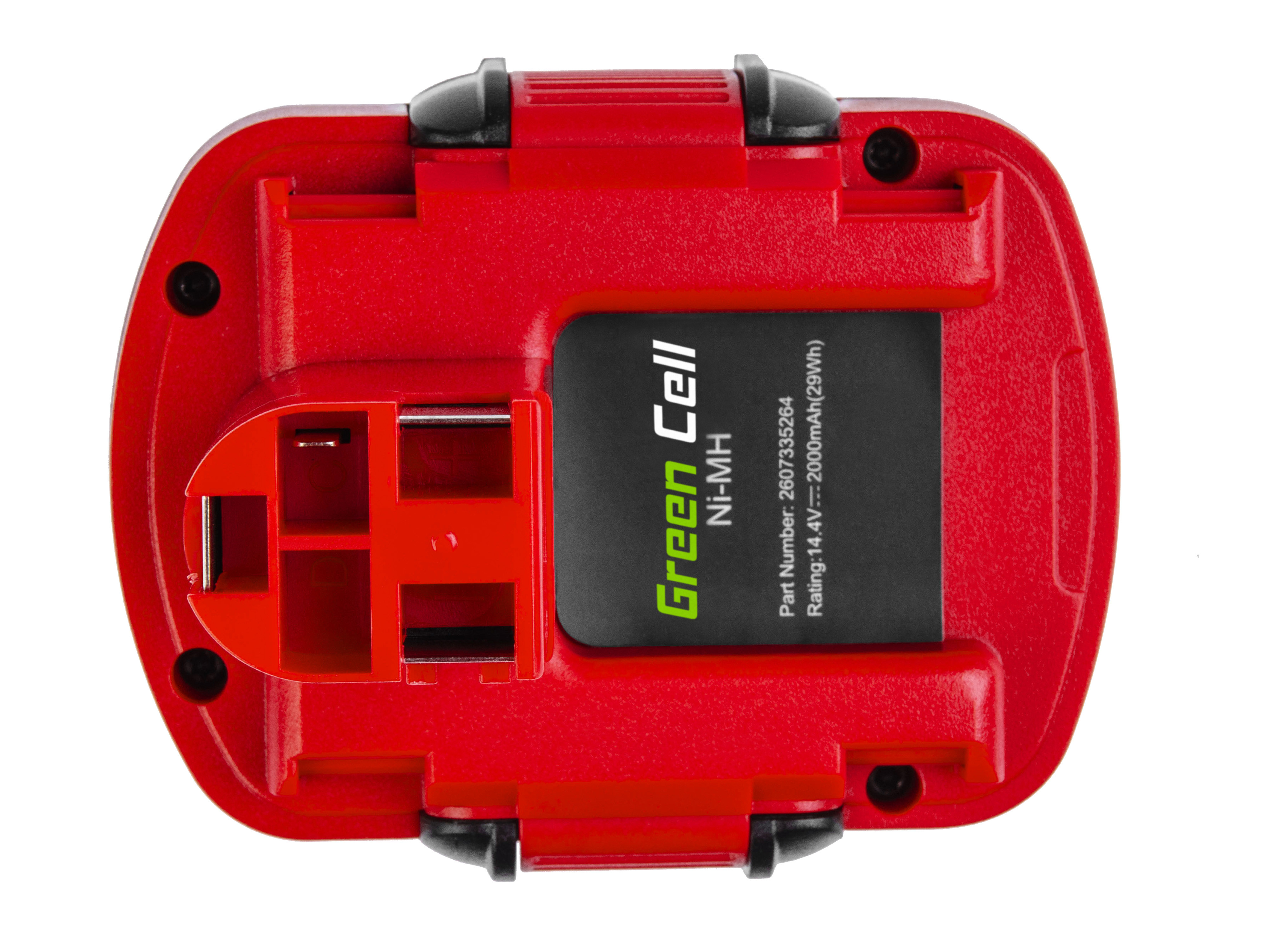 Baterie Green Cell Bosch GSR PSR 14,4V 2000mAh Ni-MH – neoriginální
