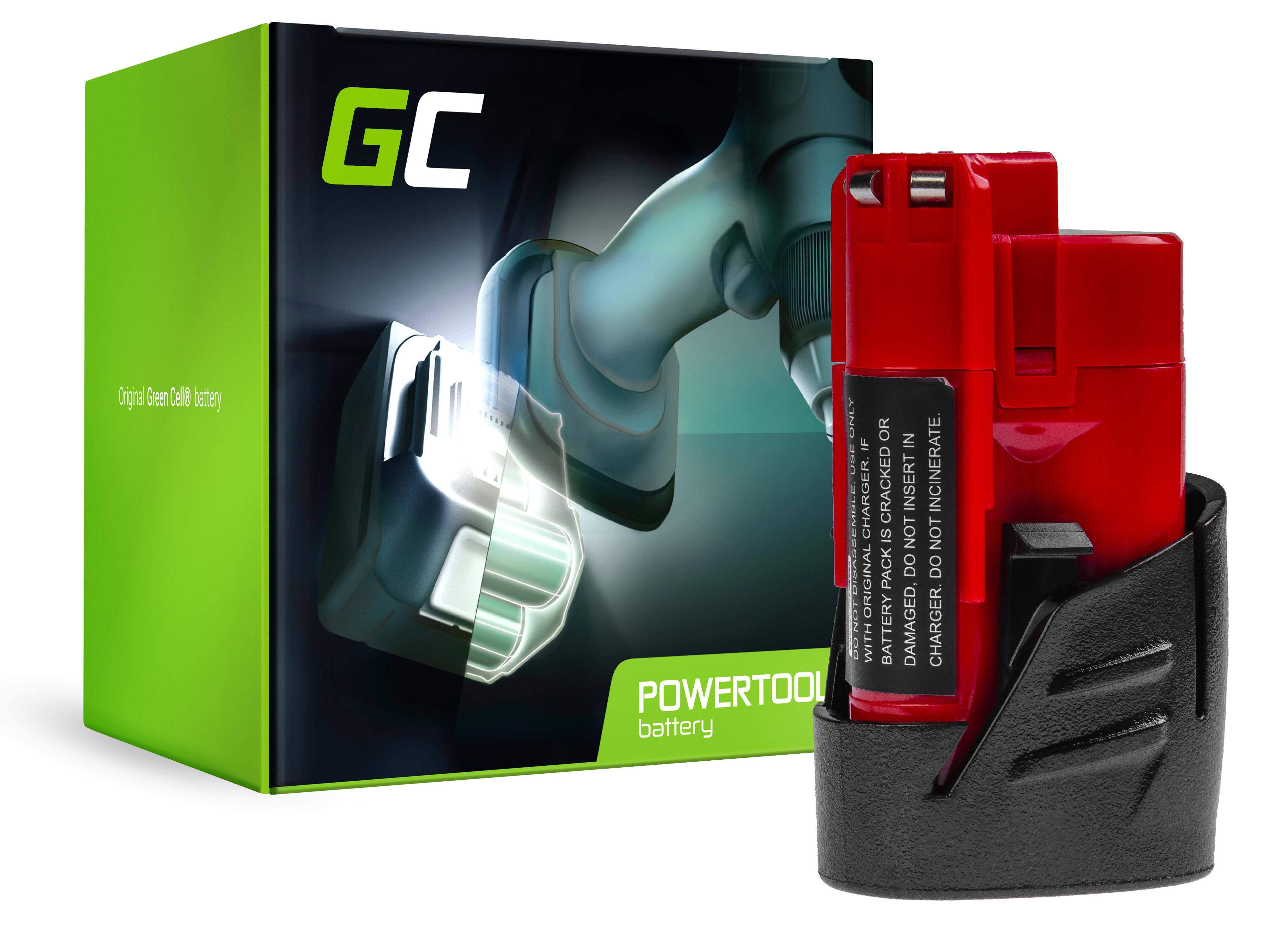 Green Cell PT44 Baterie MILWAUKEE C12/C12 B/M12/12B/48-11-2401/4932352003/4932352663/4932430064 12V 2000mAh Li-ion - neoriginální