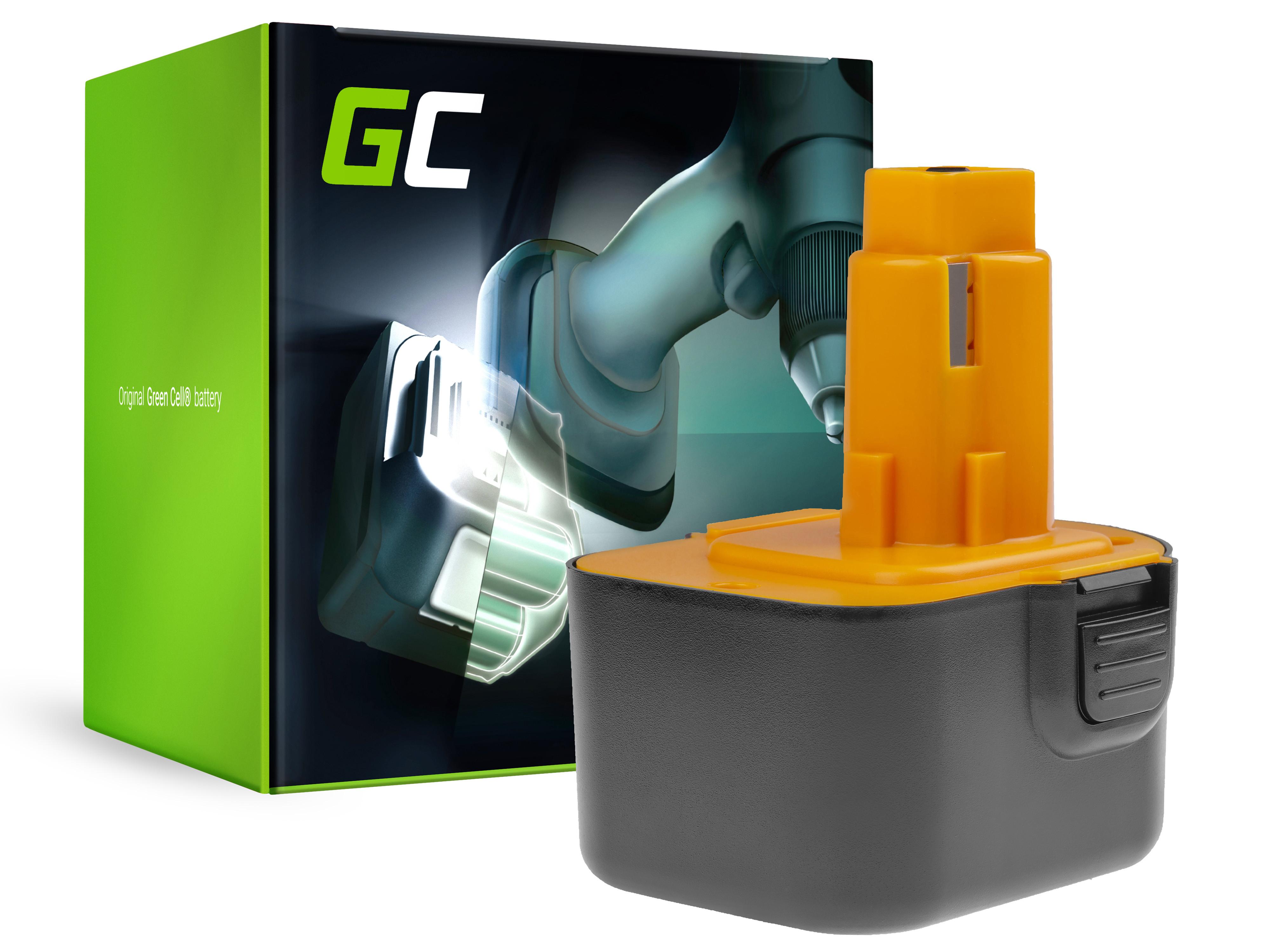 Green Cell Baterie DE9037 PS130 pro DeWalt and Black&Decker 12V 3000mAh