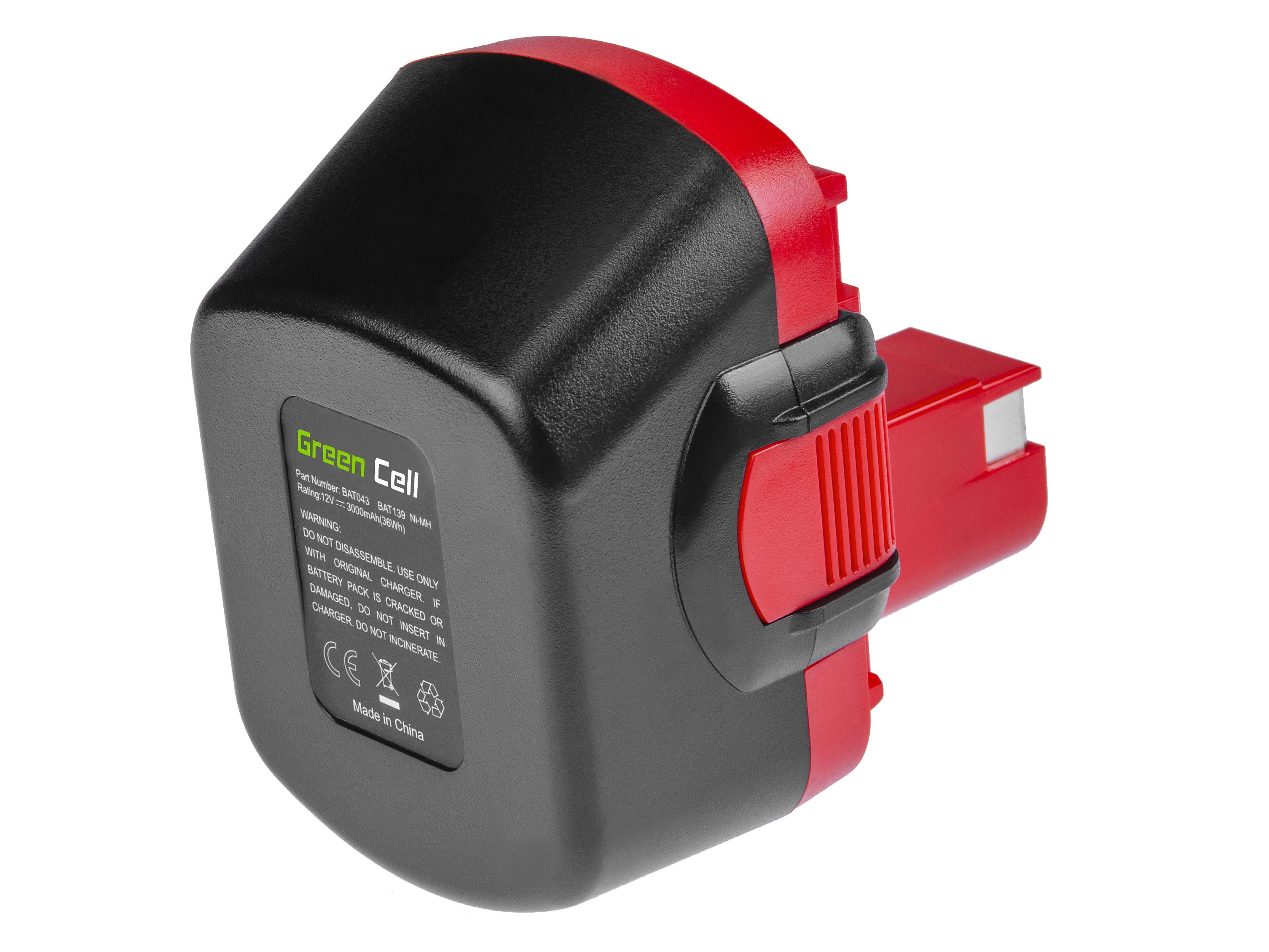 Baterie Green Cell Bosch BAT049 PSR GSR PSB 12 VE-2 12V 3000mAh Ni-MH – neoriginální