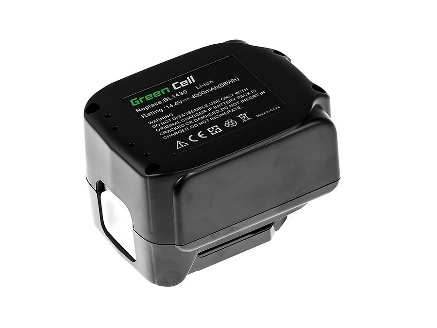 Baterie Green Cell Makita BL1415 BL1430 BL1440 14.4V 4000mAh Li-ion - neoriginální