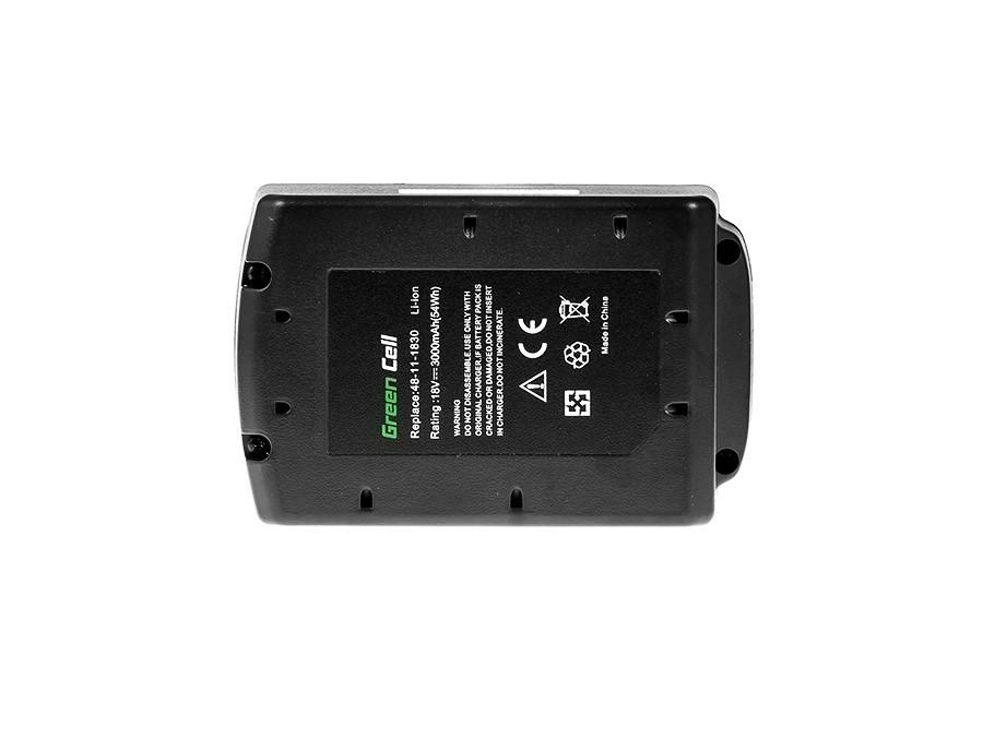 Baterie Green Cell Milwaukee M18 C18B 982-2 18V 3000mAh Li-ion - neoriginální