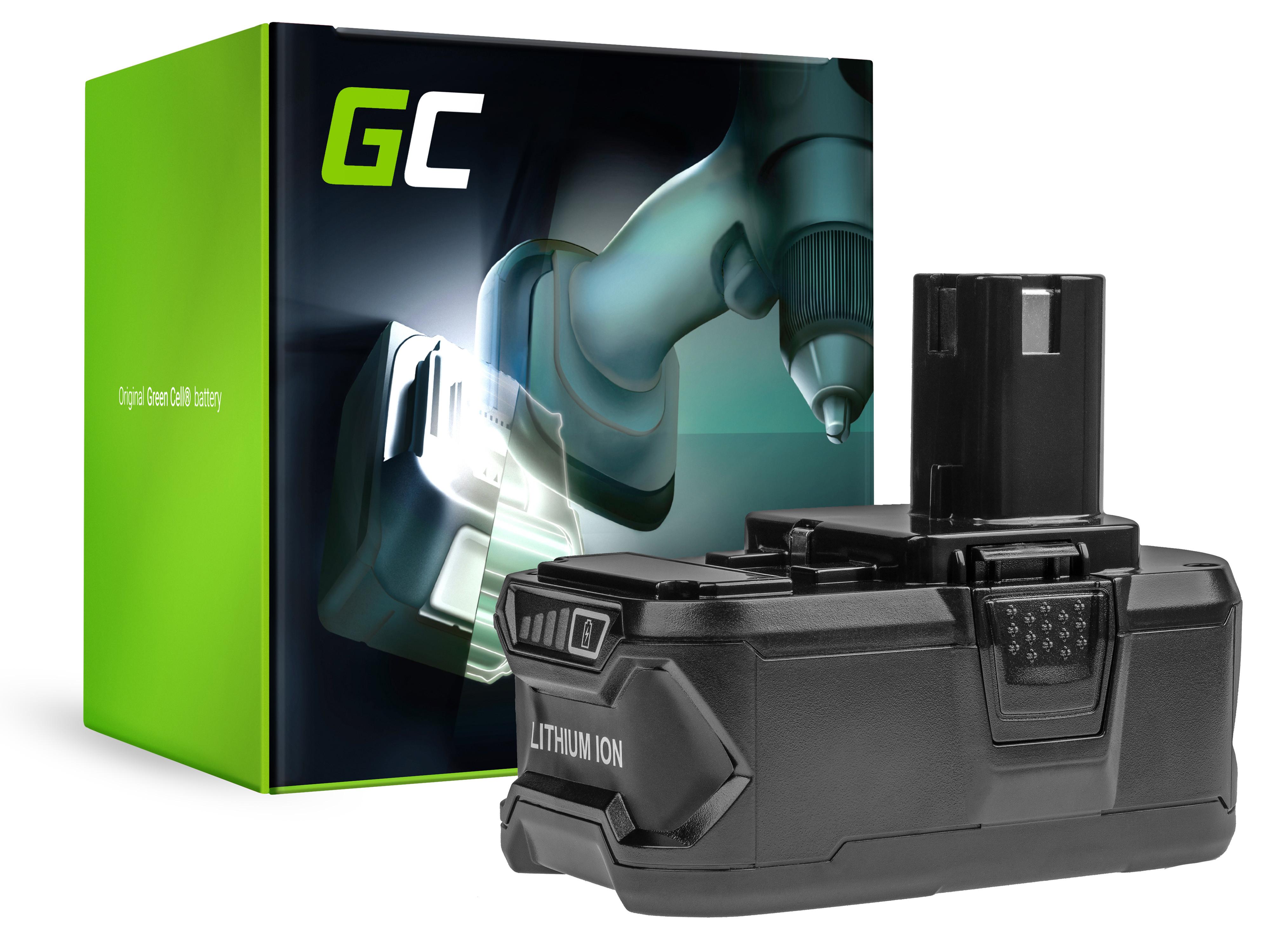 Green Cell PT62 Baterie Ryobi ONE+ P108 RB18L13 RB18L15 RB18L20 RB18L25 RB18L50, RYOBI BCL14181H R18DD3 R18IW3 R18IW3-0 5000mAh Li-ion