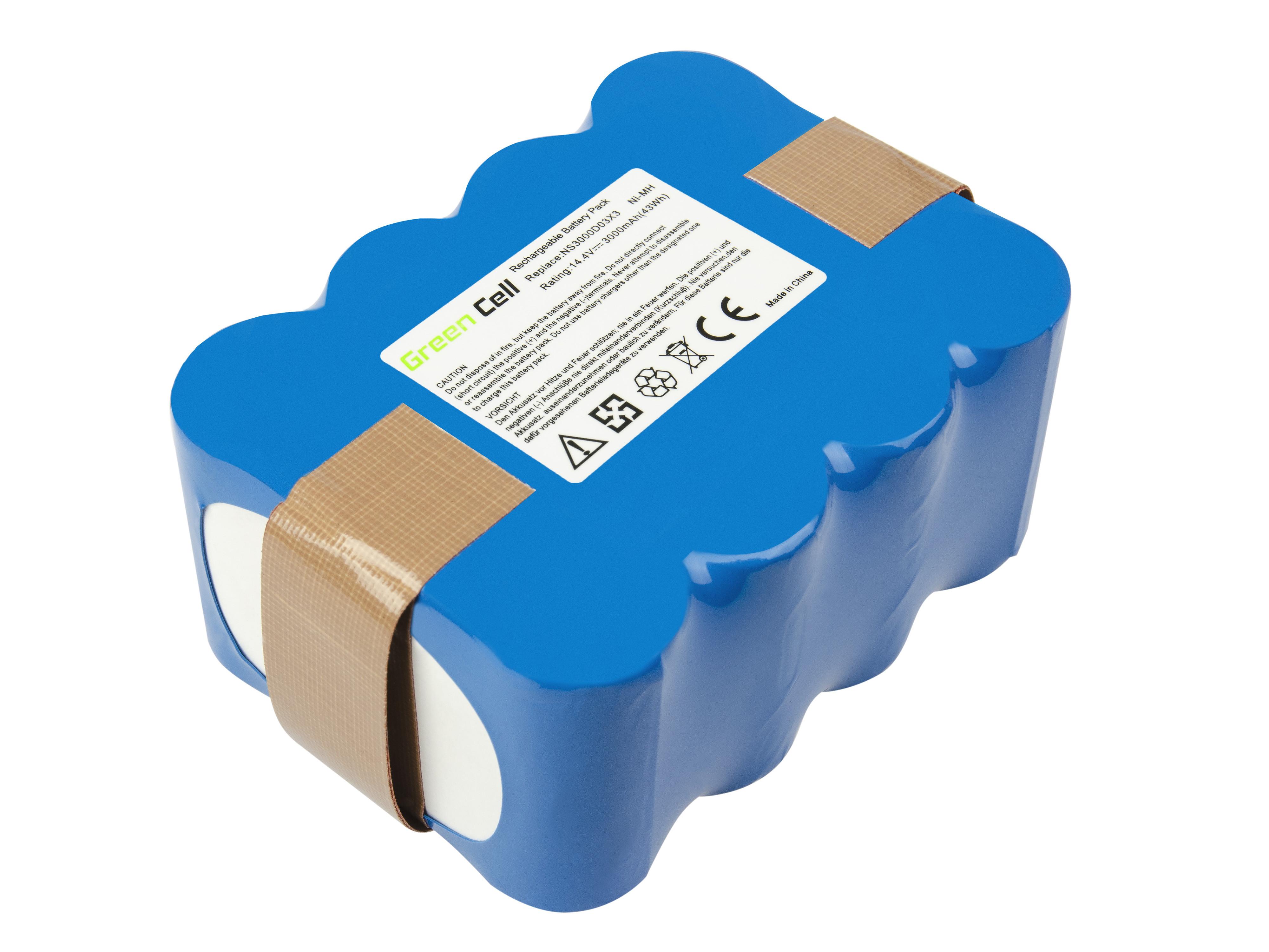 Baterie Green Cell do vysavačů EcoGenic, Hoover, Indream, JNB, Kaily, Robot, Samba 14.4V 3000mAh Ni-MH – neoriginální