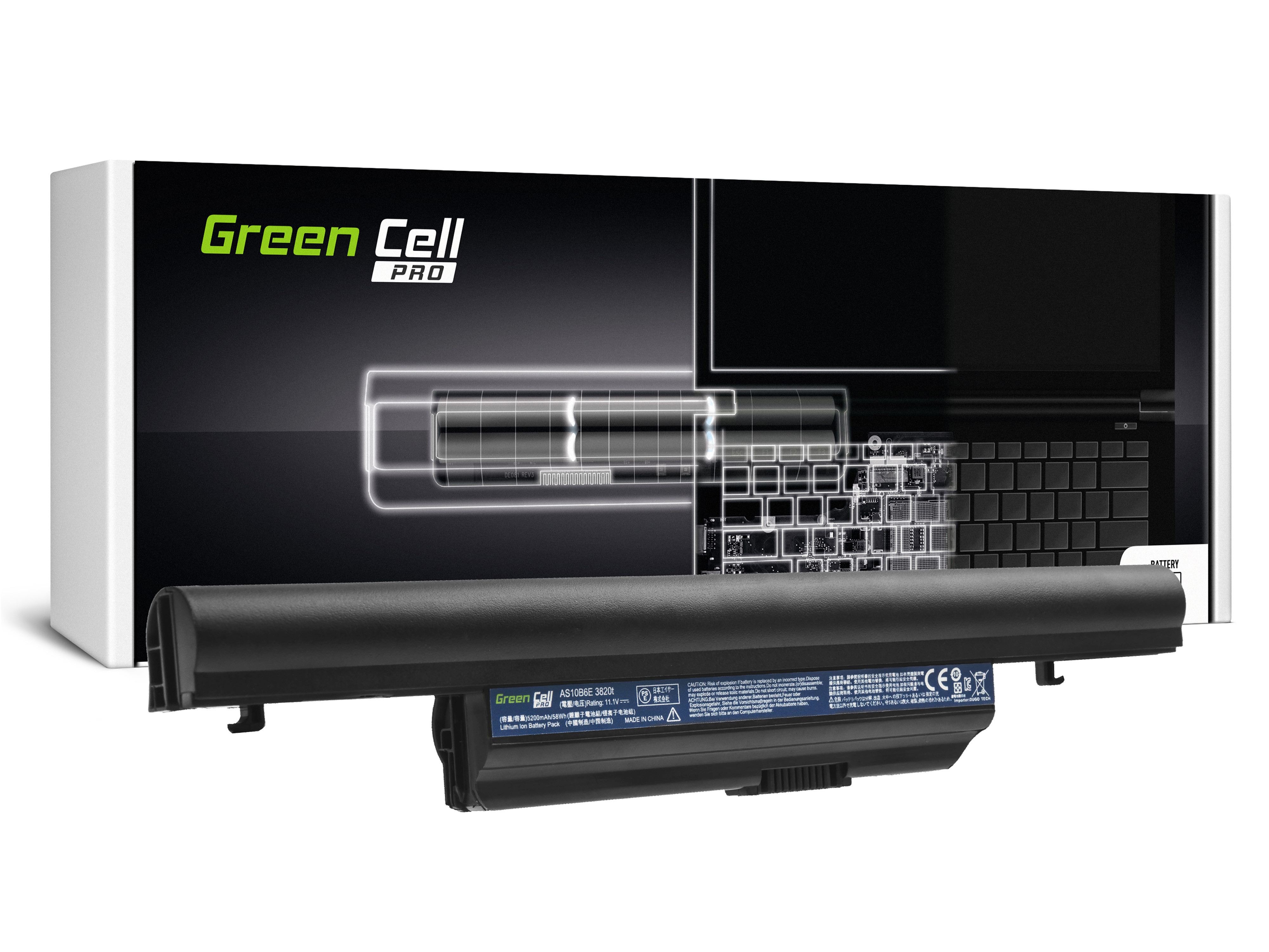 Bateria Green Cell PRO AS10B31 AS10B75 AS10B7E do Acer Aspire 5553 5745 5745G 5820 5820T 5820TG 5820TZG 7739