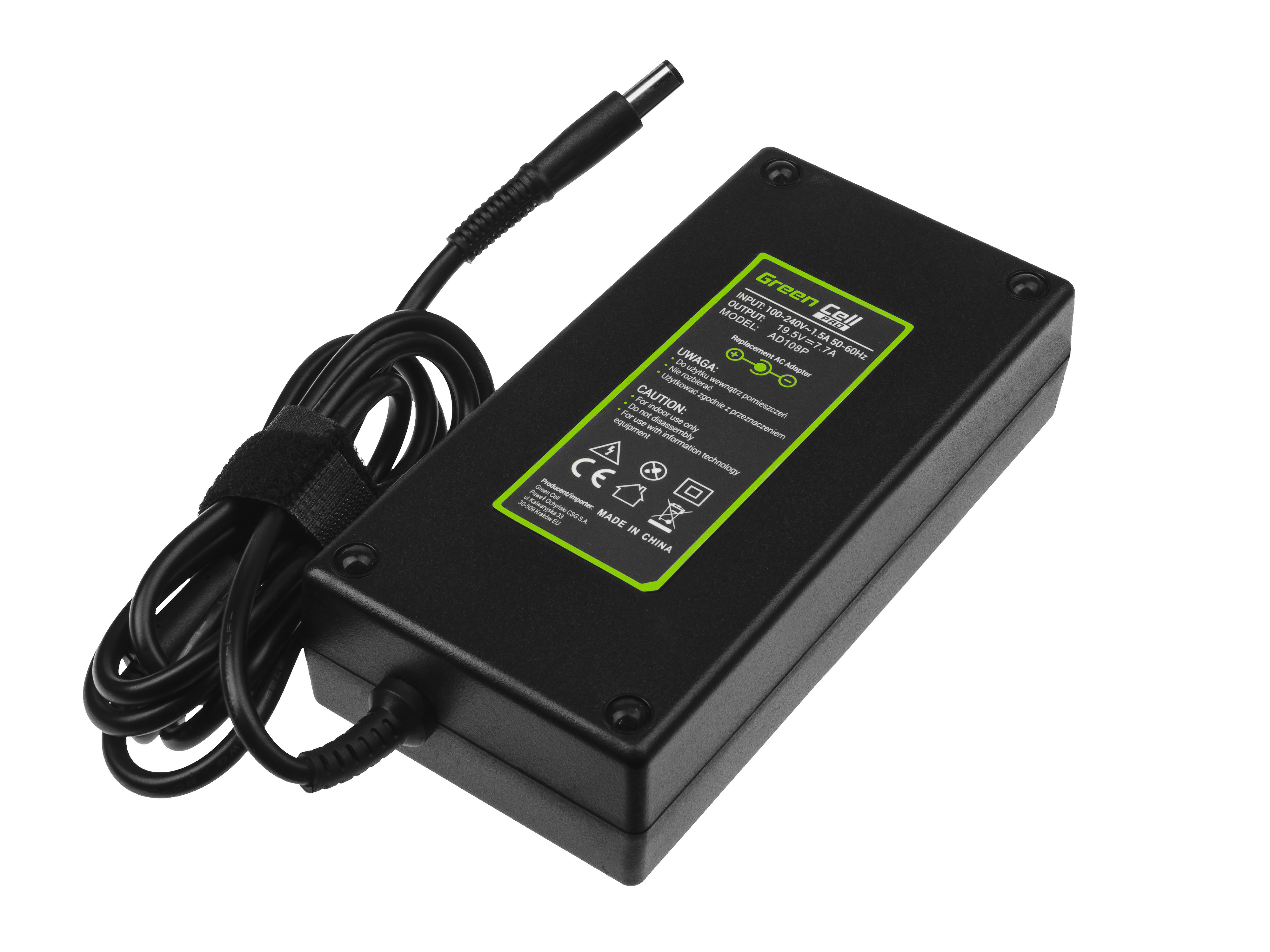 Green Cell PRO Charger AC Adapter 19.5V 7.7A 150W PA-15 PA-5M10 DA150PM100-00 for Dell Alienware M14x Dell Latitude E5450 E5550