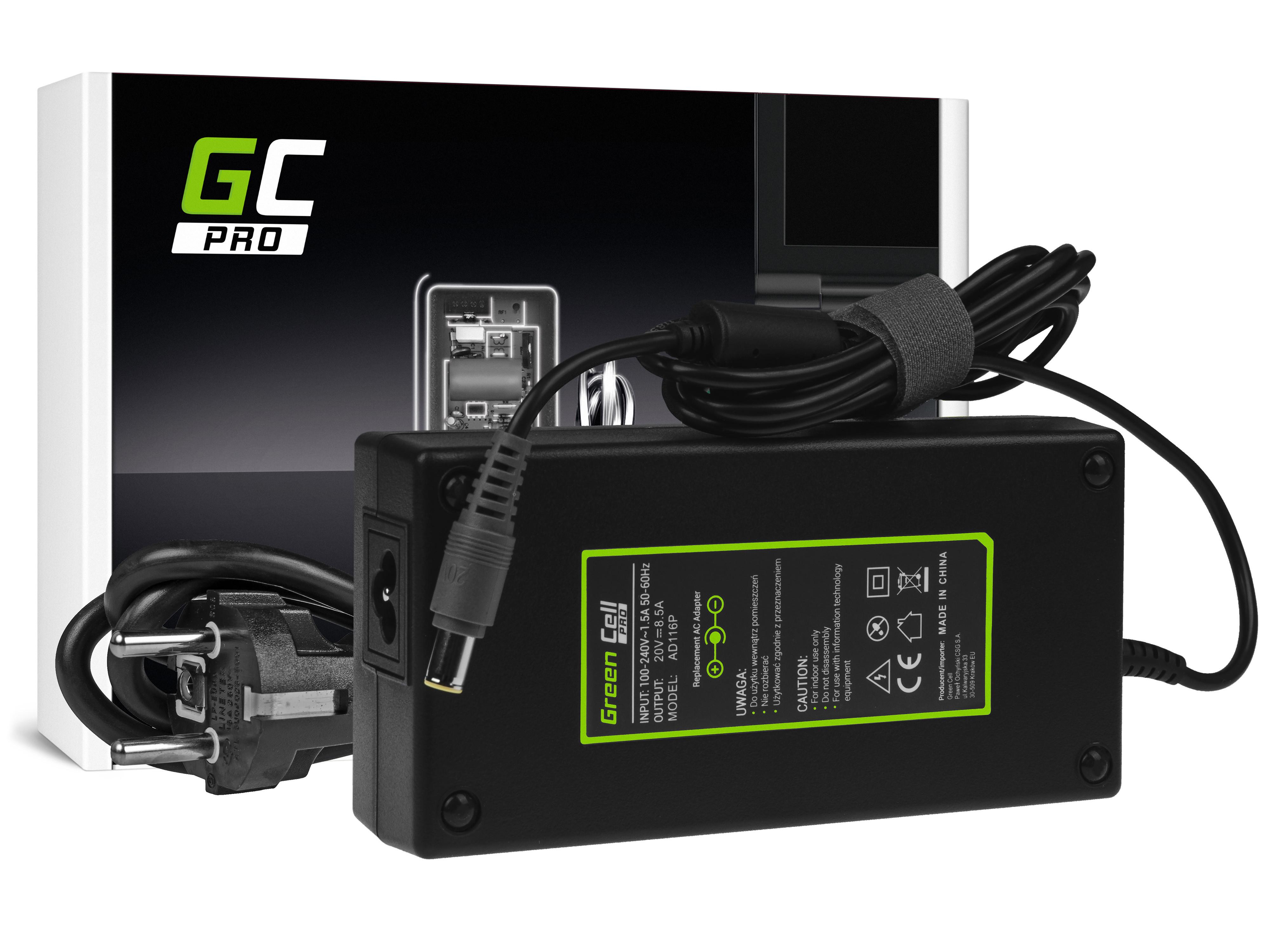 Green Cell AD116P Adaptér Nabíječka Lenovo ThinkPad T420 T430 T520 T530 W520 W530 20V 8.5A 170W