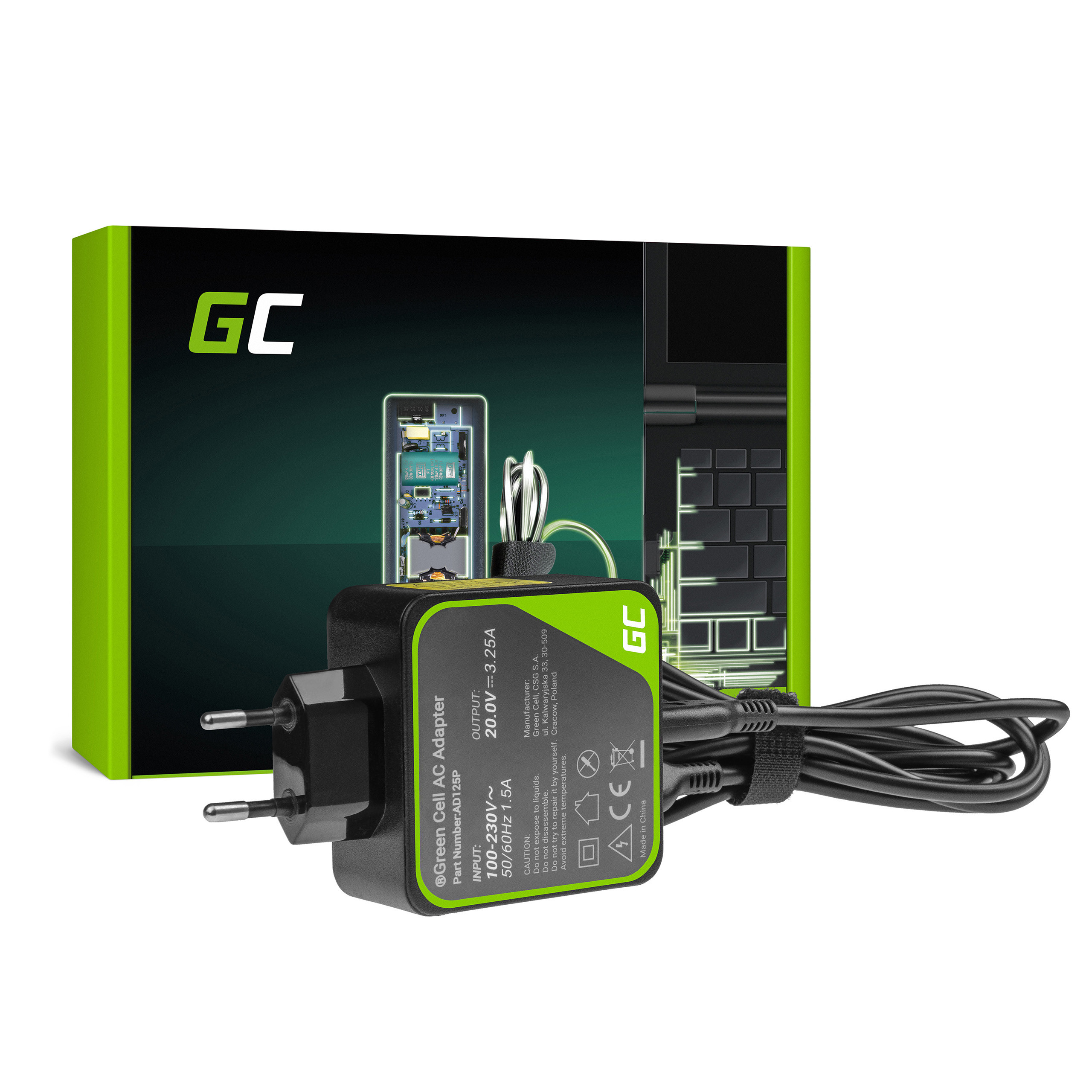 Green Cell AD125P Adaptér Nabíječka Lenovo Yoga 4 Pro 700-14ISK 900-13ISK 900-13ISK2 20V 65W