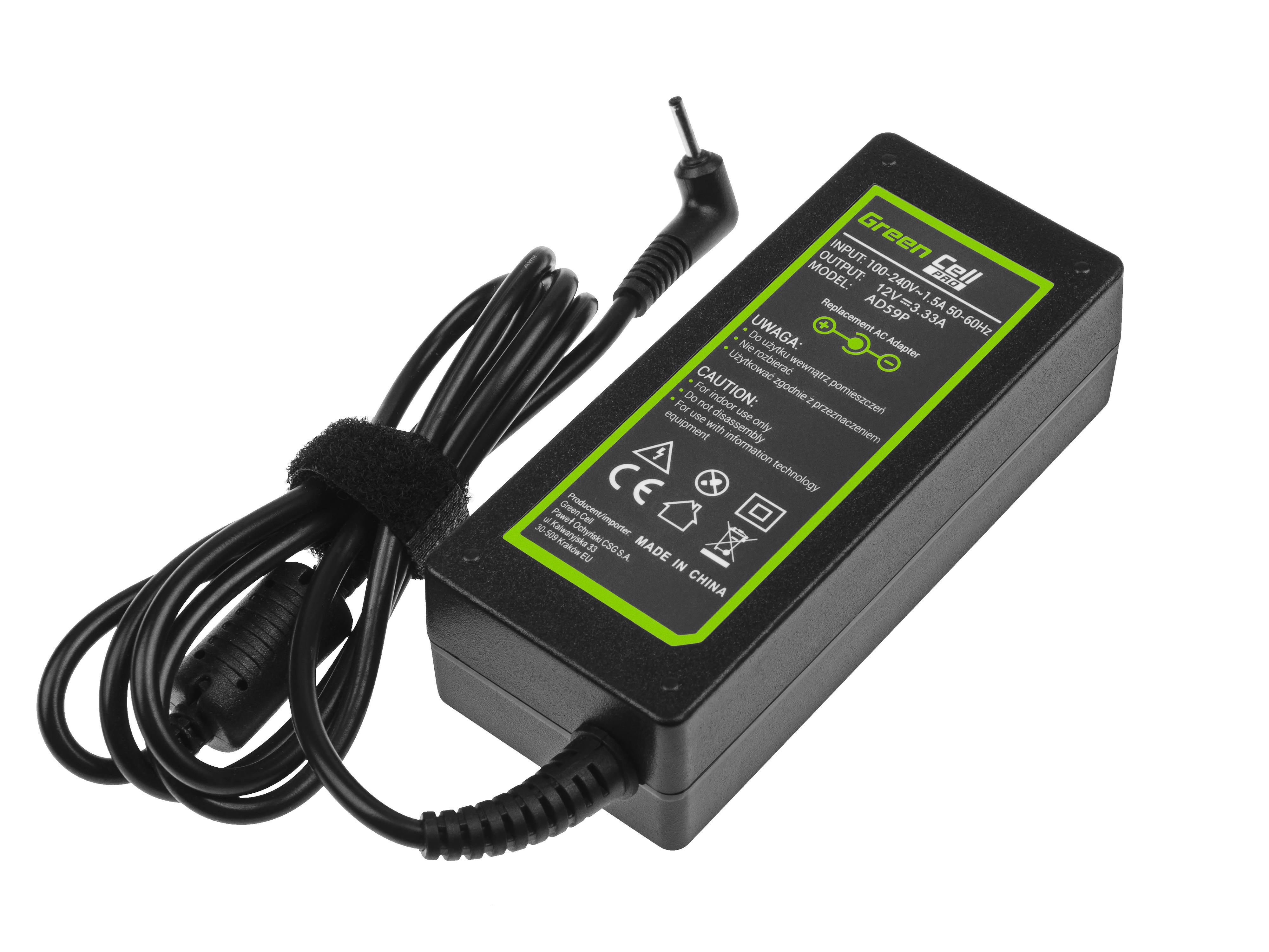 Green Cell AD59P Nabíječka adaptér Samsung 303C XE303C12 500C XE500C13 500T XE500T1C 700T XE700T1C 12V 3,33A 40W