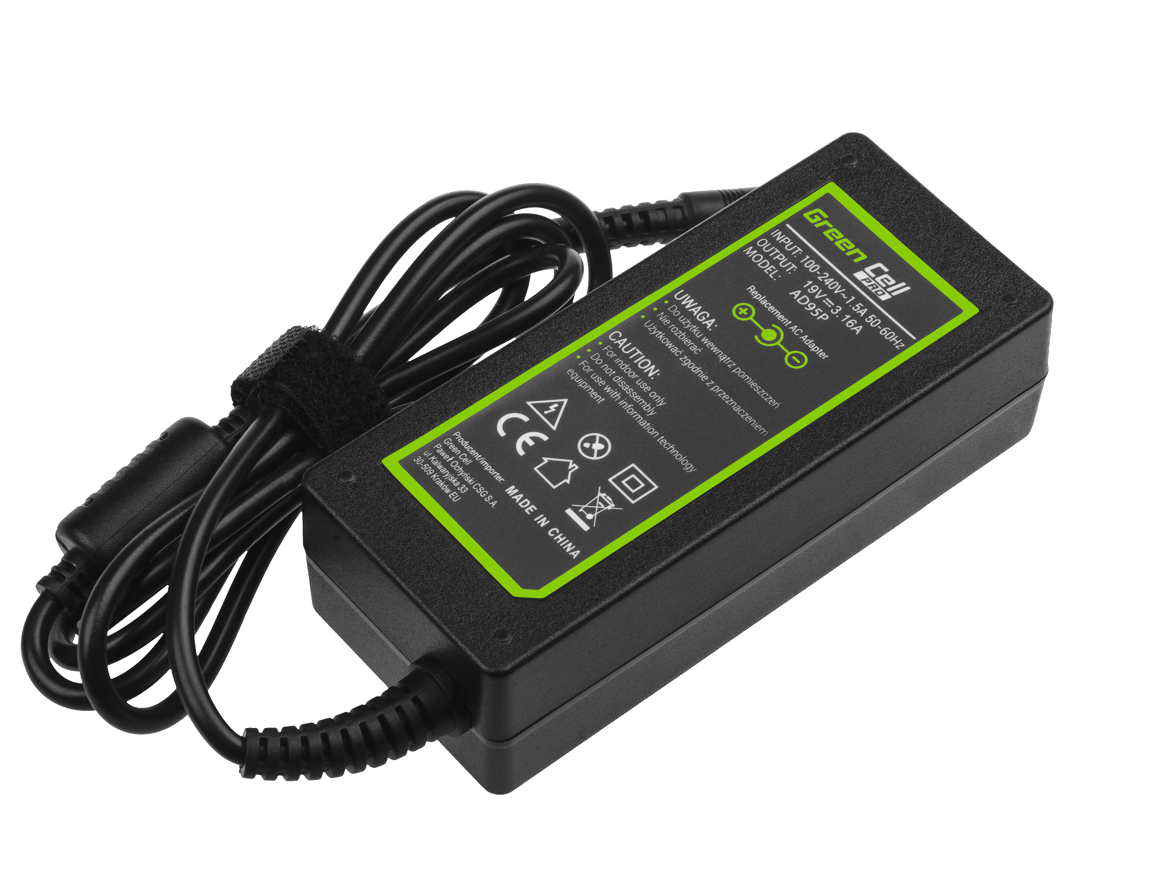 Green Cell AD95P Nabíječka adaptér Samsung NP730U3E ATIV 5 NP530U4E ATIV Book 7 NP740U3E 19V 3,16A 60 W