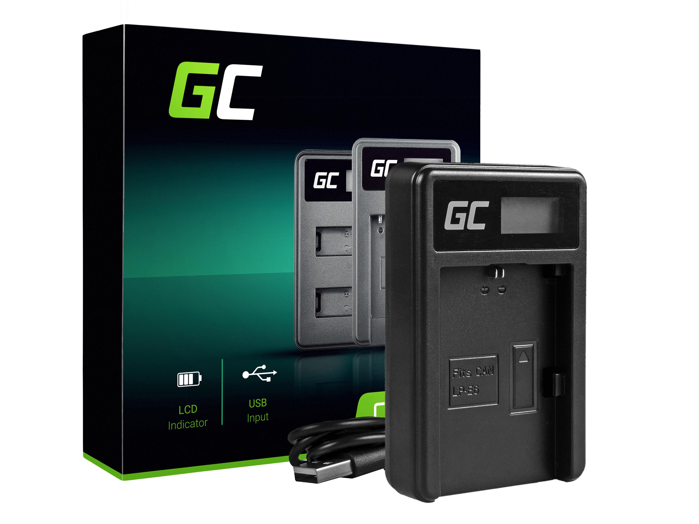 Green Cell Battery Charger LC-E6 for Canon LP-E6, EOS 70D, 5D Mark II/ III, 80D, 7D Mark II, 60D, 6D, 7D