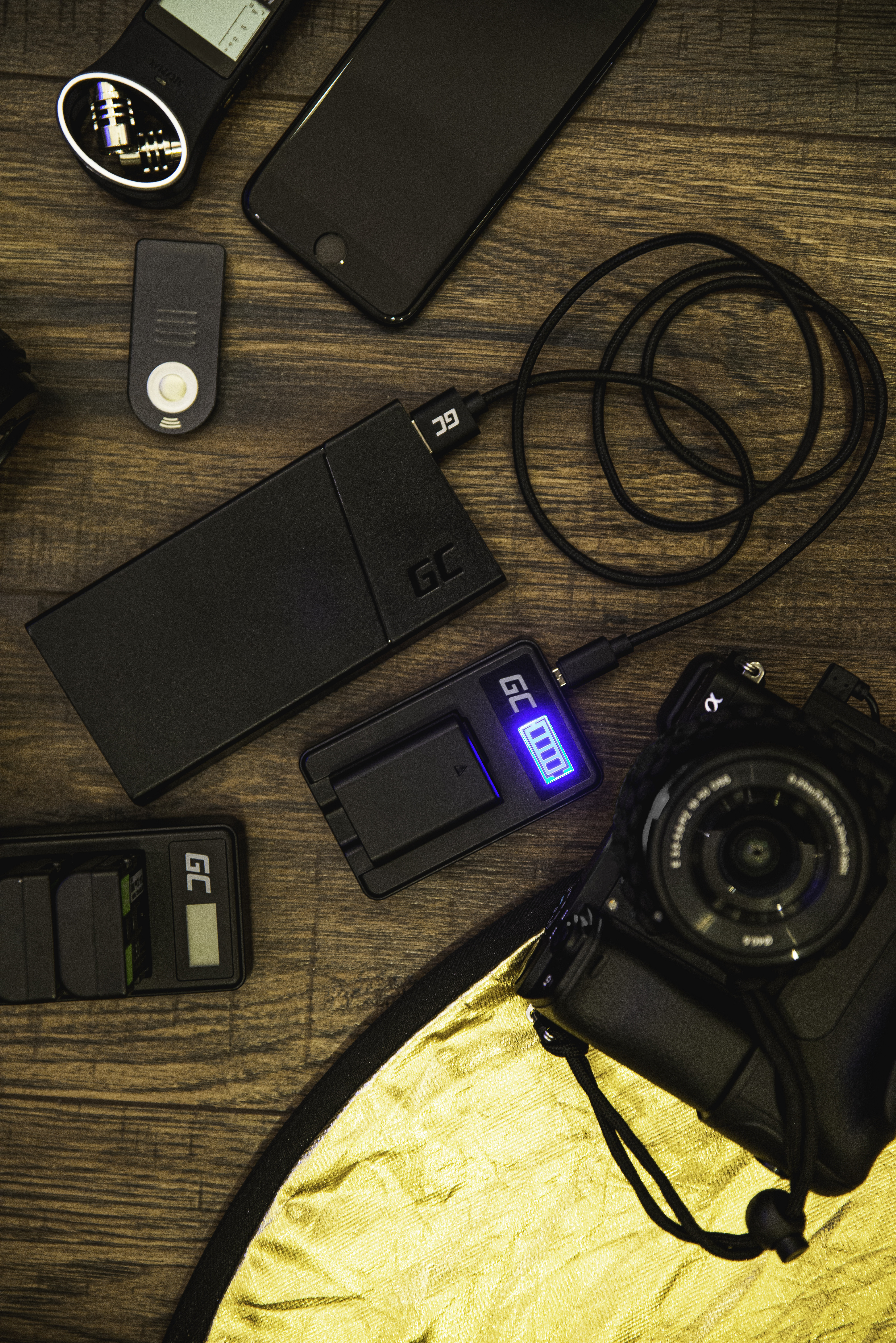Charger AHBBP-301 Green Cell ® for AHDBT-201, AHDBT-301, GoPro HD Hero 3, GoPro HD Hero 3+