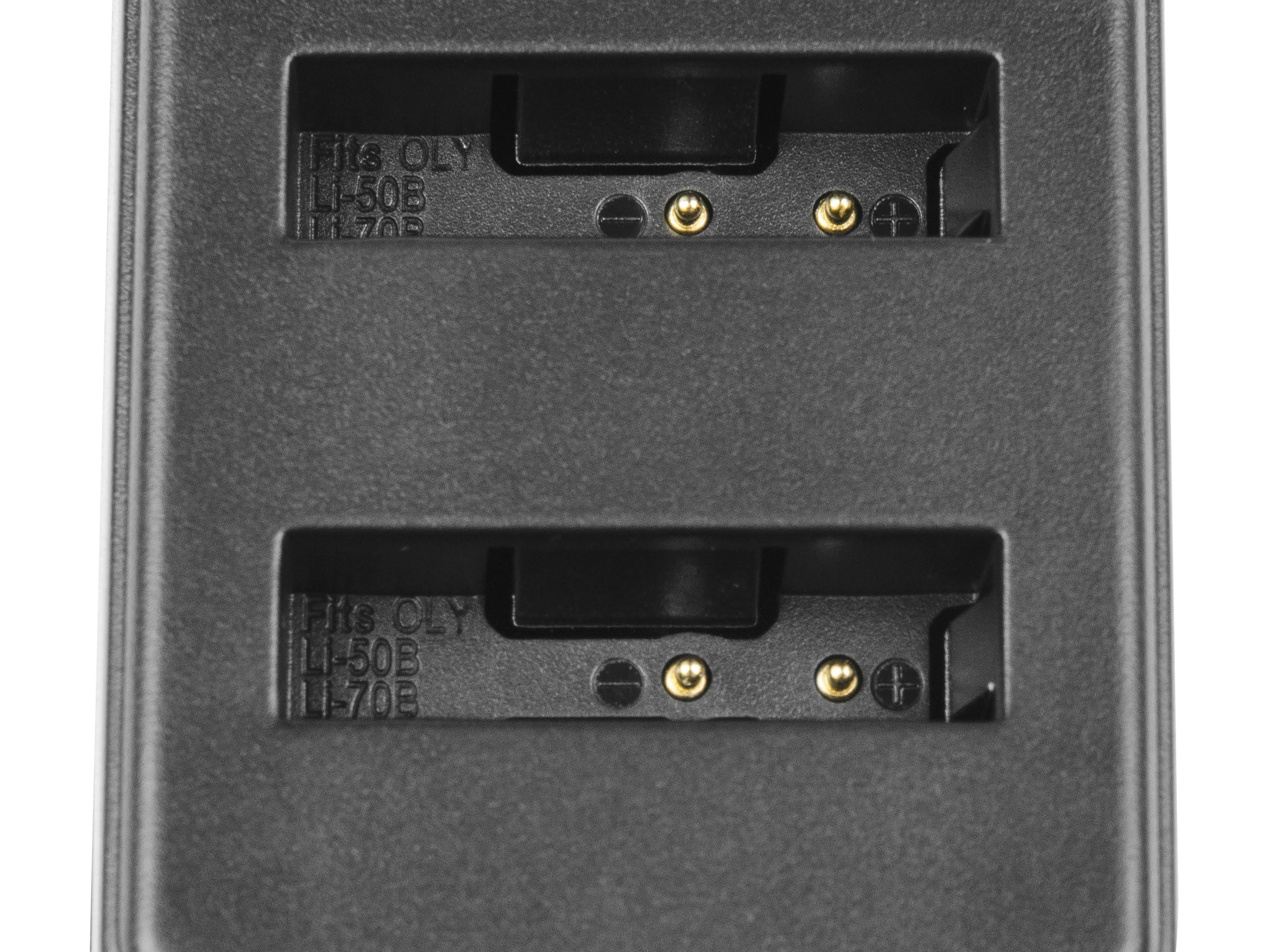 Double Charger LI-50C Green Cell ® for Olympus LI-50B, SZ-15 SZ-16 Tough 6000 8000 TG-810 TG-820 TG-830 TG-850 VR-370 XZ-1