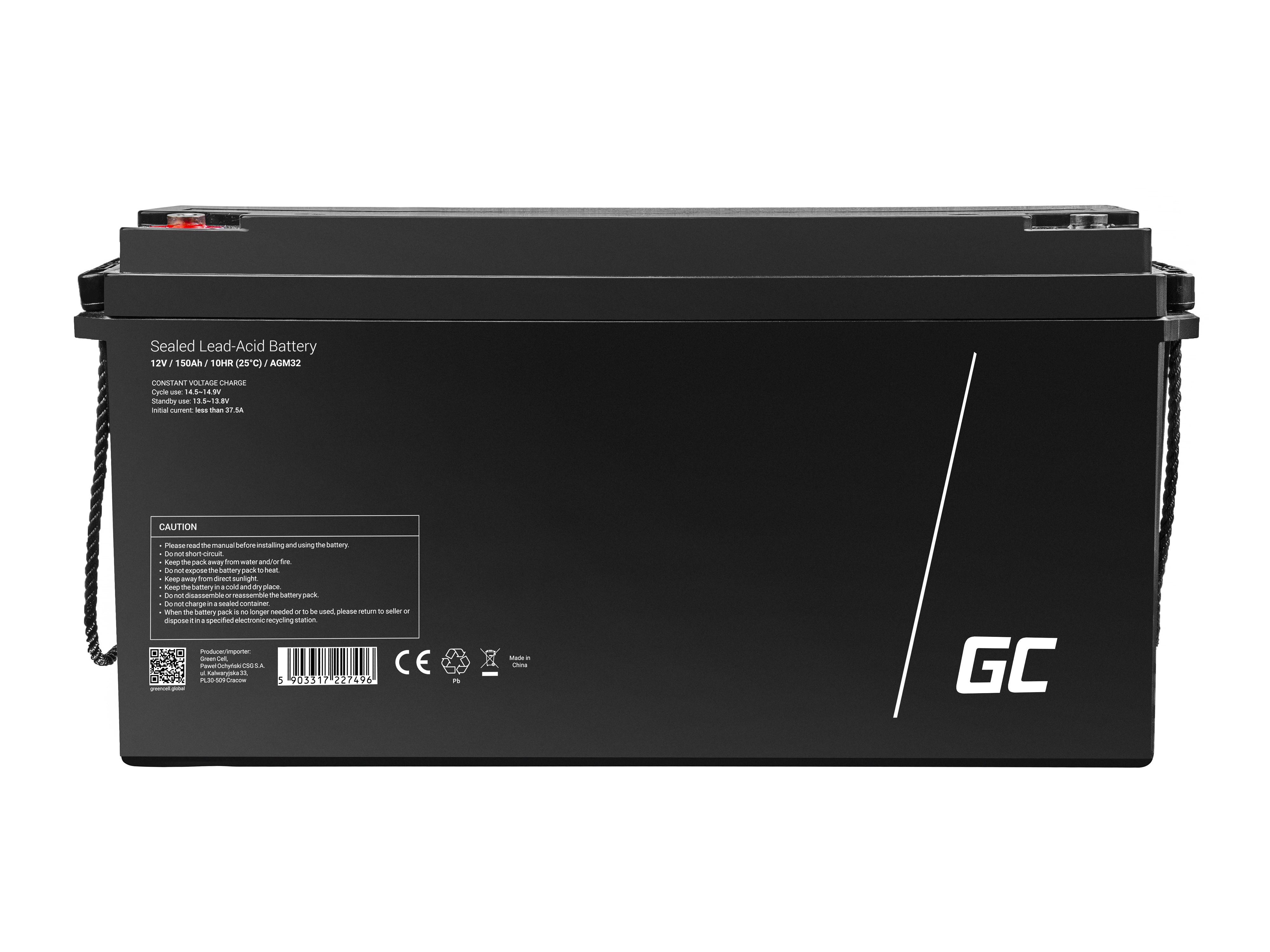 Green Cell Staniční (záložní) Baterie 12V 150Ah