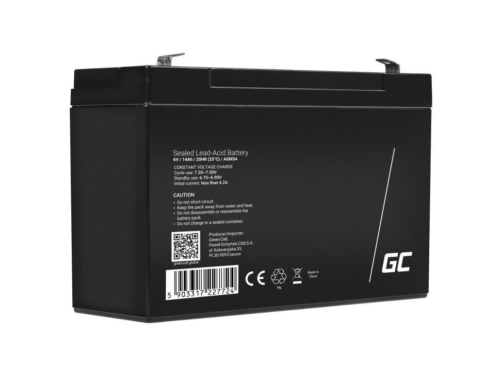 Green Cell AGM Baterie 6V 14Ah