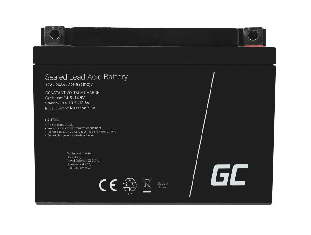 Green Cell Staniční (záložní) Baterie 12V 26Ah