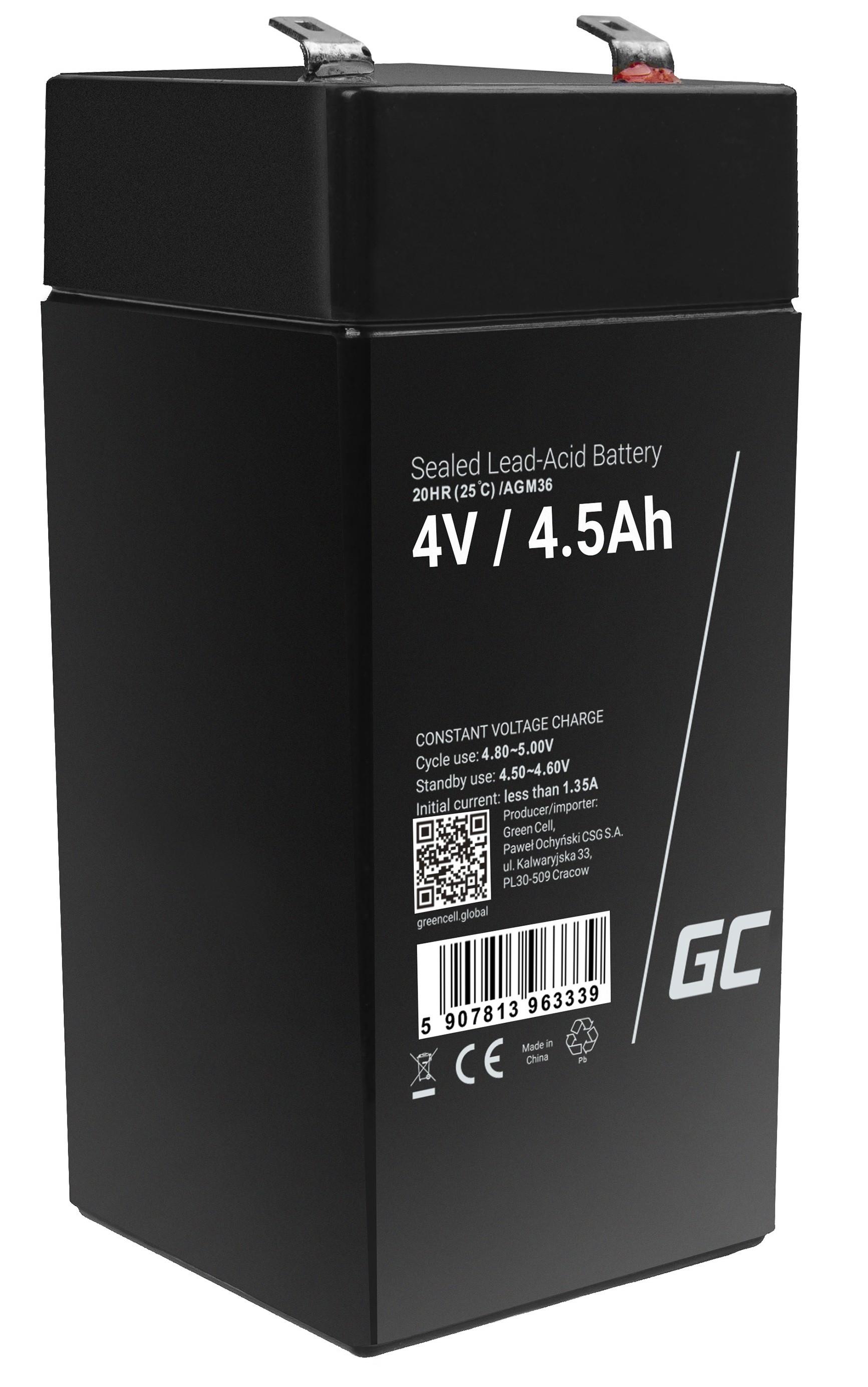 Green Cell Staniční (záložní) Baterie 4V 4.5Ah
