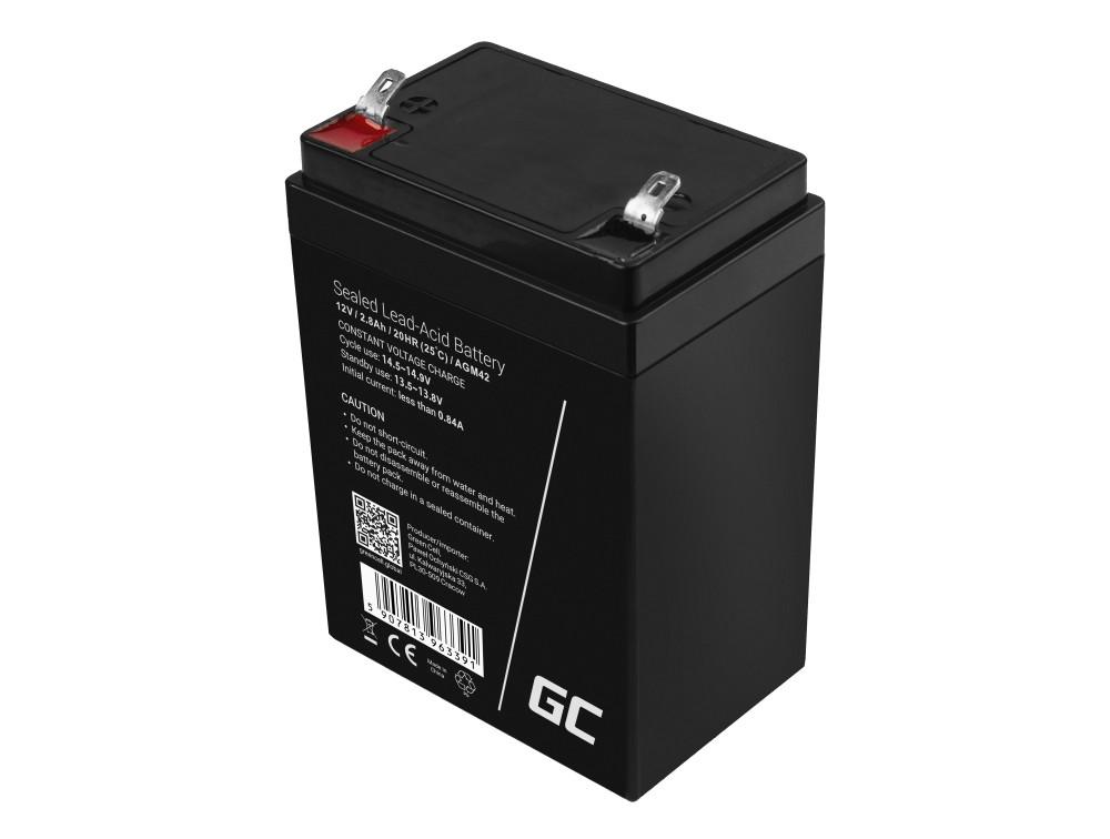 Green Cell AGM baterie 12V 2.8Ah