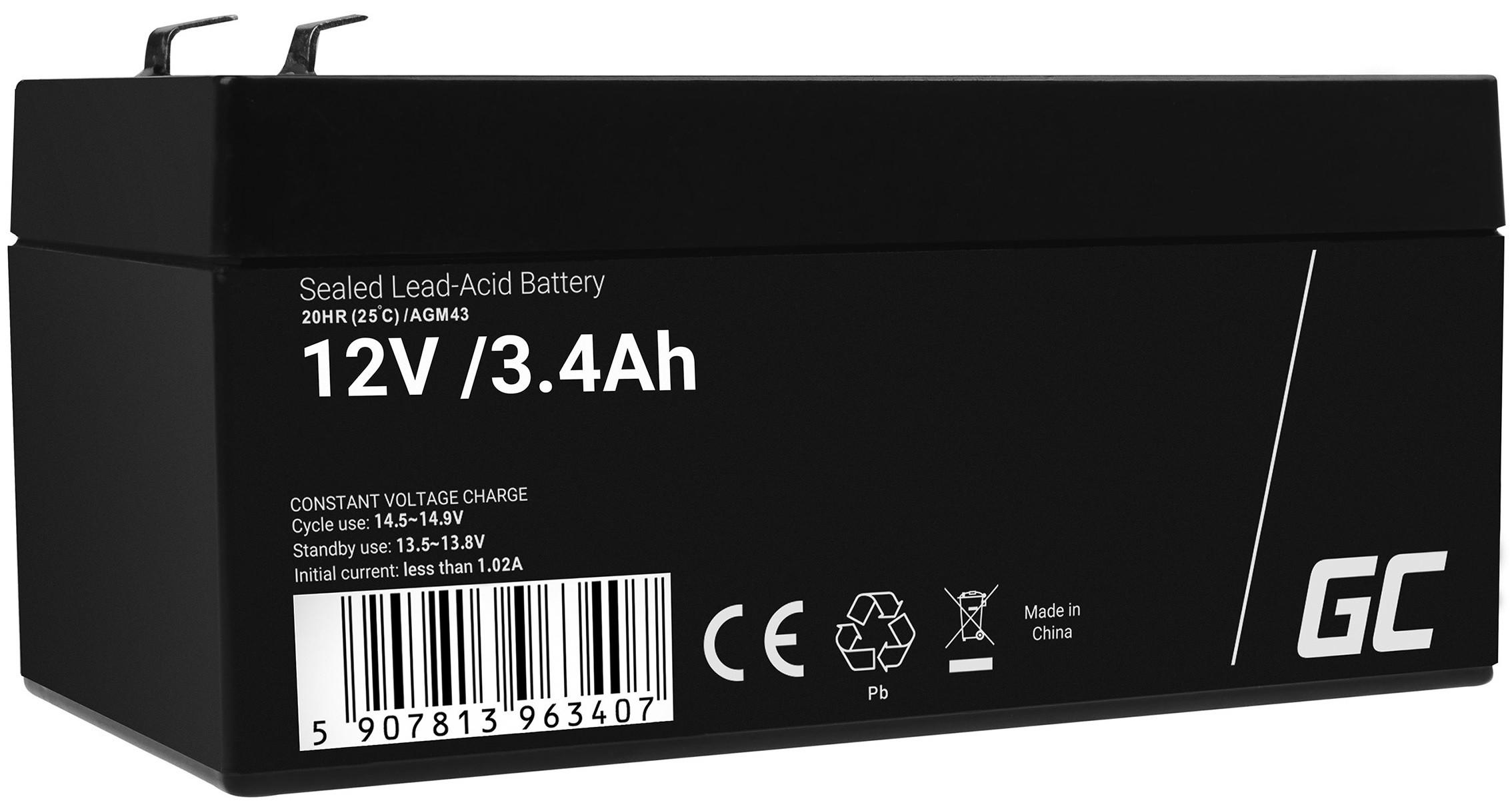 Green Cell AGM baterie 12V 3.4Ah