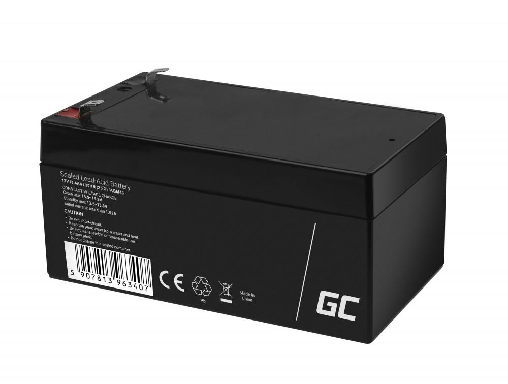 Green Cell AGM Battery 12V 3.4Ah