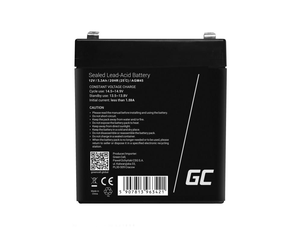 Green Cell Staniční (záložní) Baterie 12V 5.3Ah