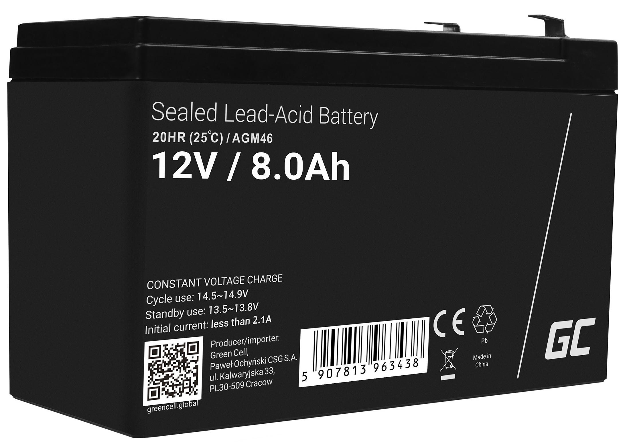 Green Cell AGM baterie 12V 8Ah