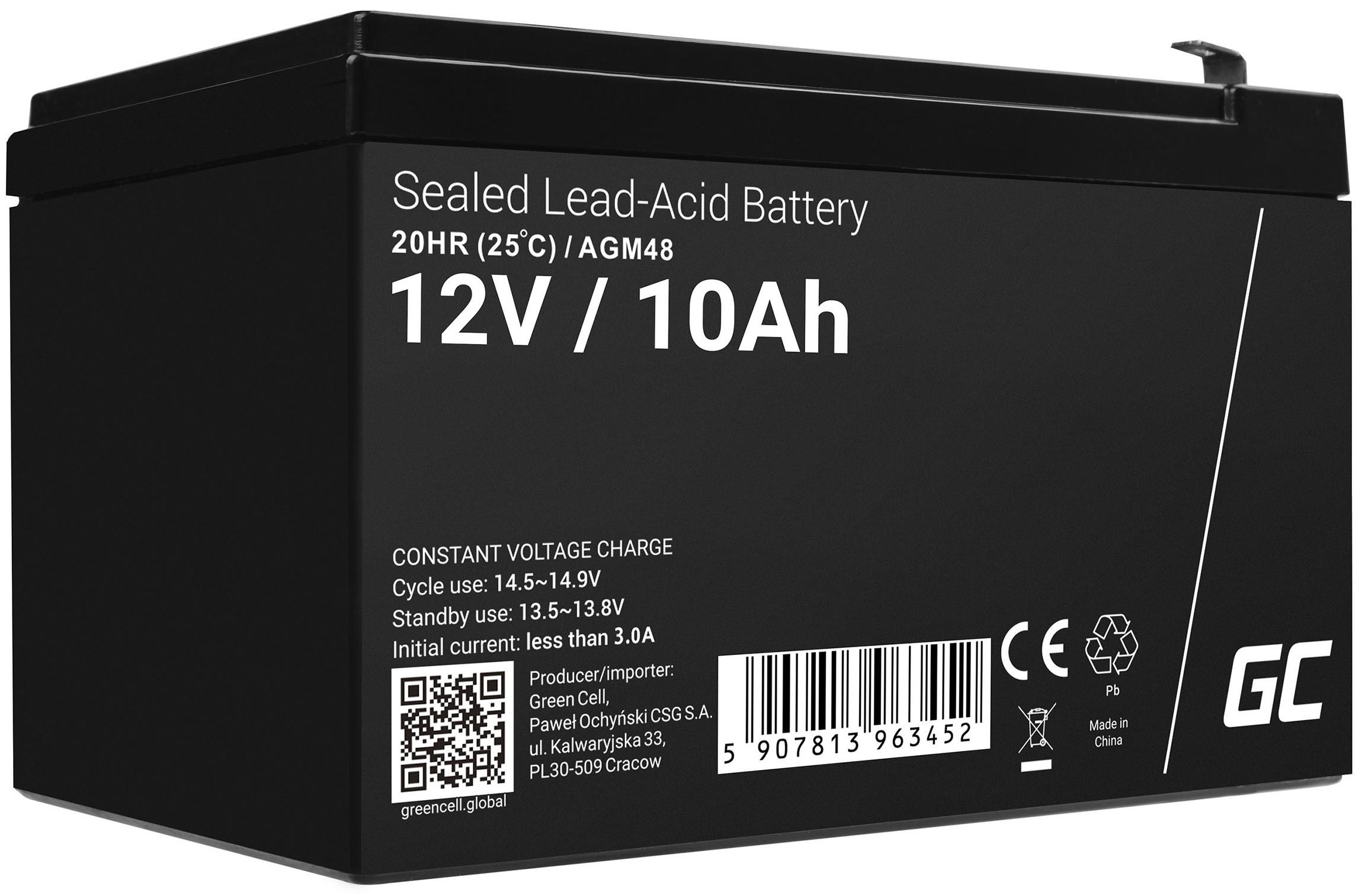 Green Cell AGM baterie 12V 10Ah