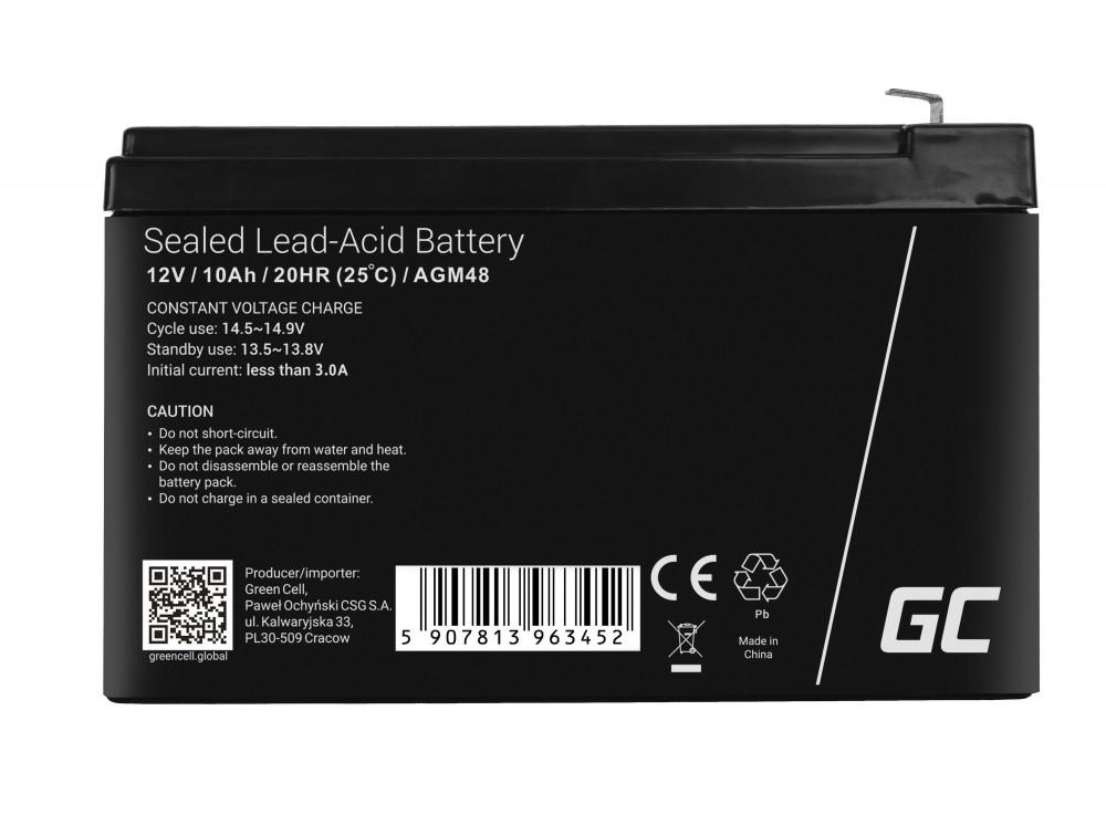 Green Cell AGM Battery 12V 10Ah