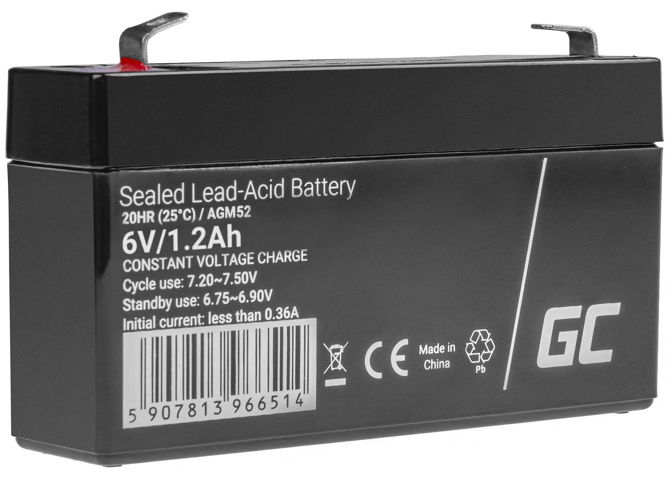 Green Cell AGM Baterie 6V 1.2Ah