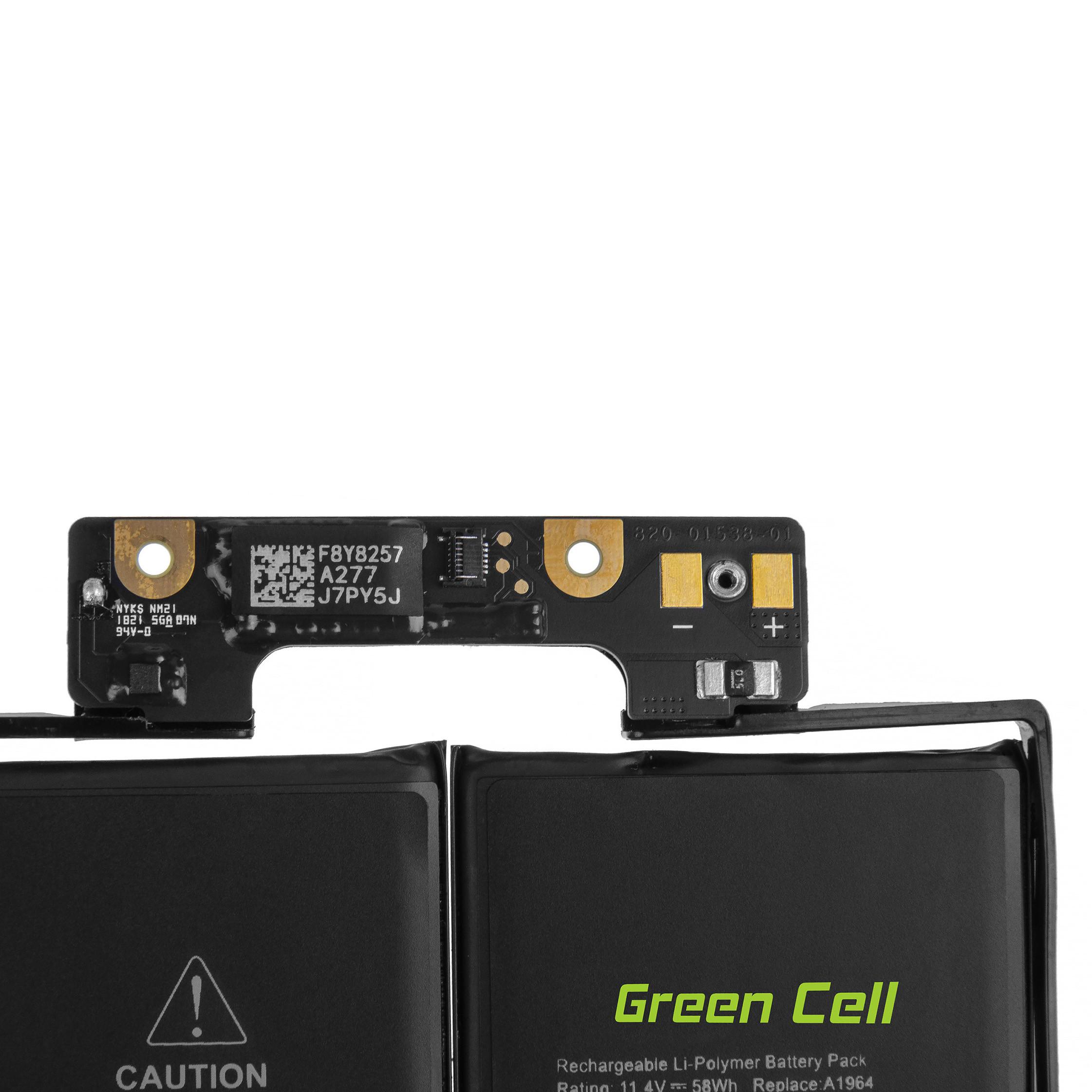 Green Cell AP31PRO Baterie Apple A1964, Apple MacBook Pro 13 A1989 (2018 i 2019, 4 porty thunderbolt) 11.4V 58Wh Li-Pol - neoriginální
