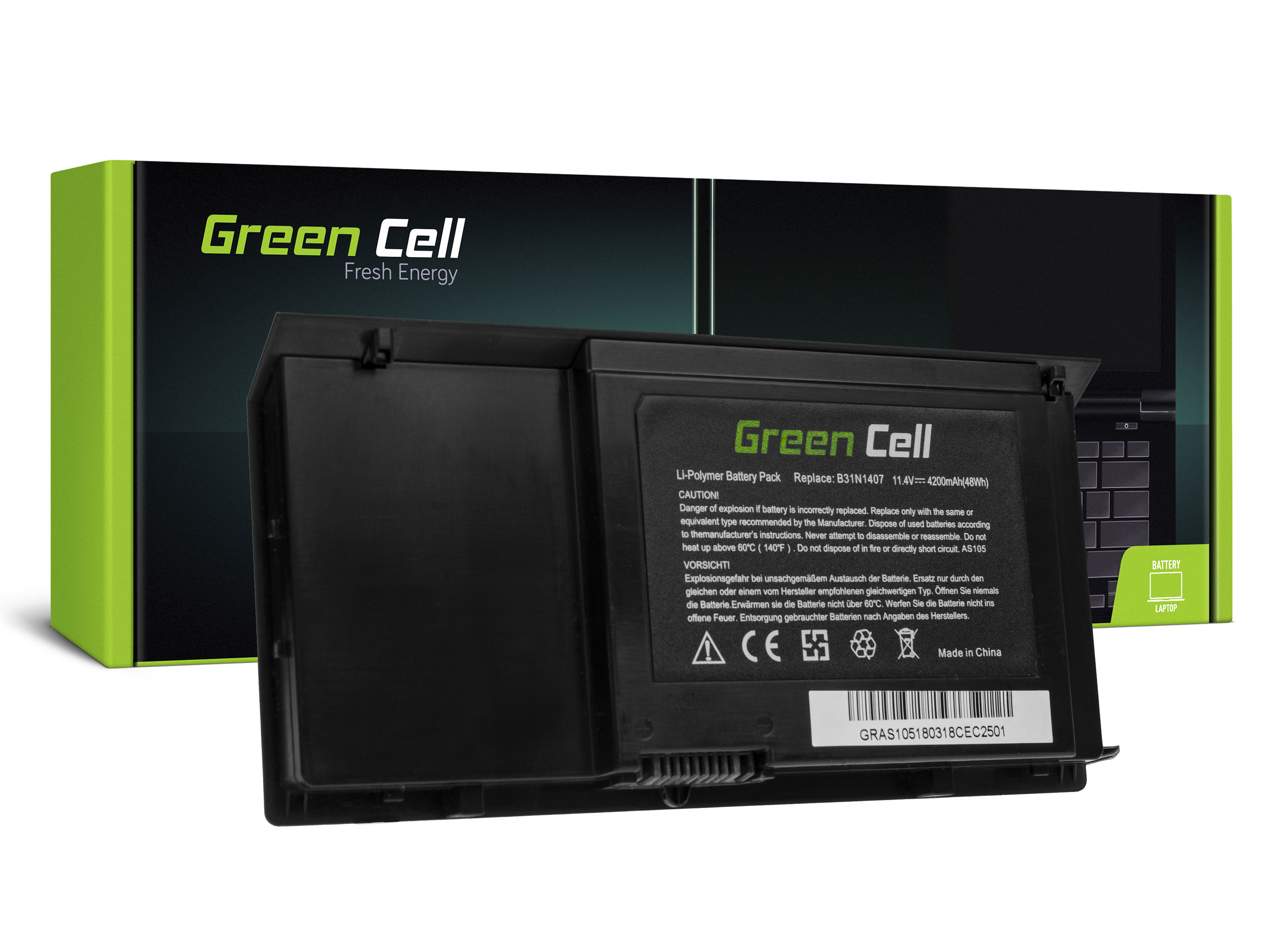 Green Cell Battery for AsusPRO Advanced B451 B451J B451JA / 11,4V 4200mAh