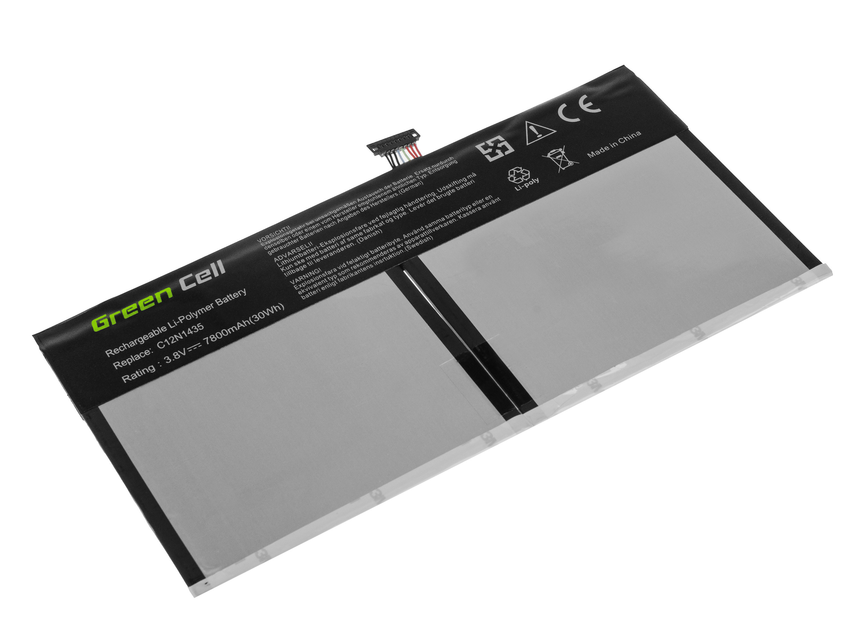 Green Cell AS108 Baterie Asus C12N1435/Asus Transformer Book T100H/T100HA 7800mAh Li-Pol – neoriginální