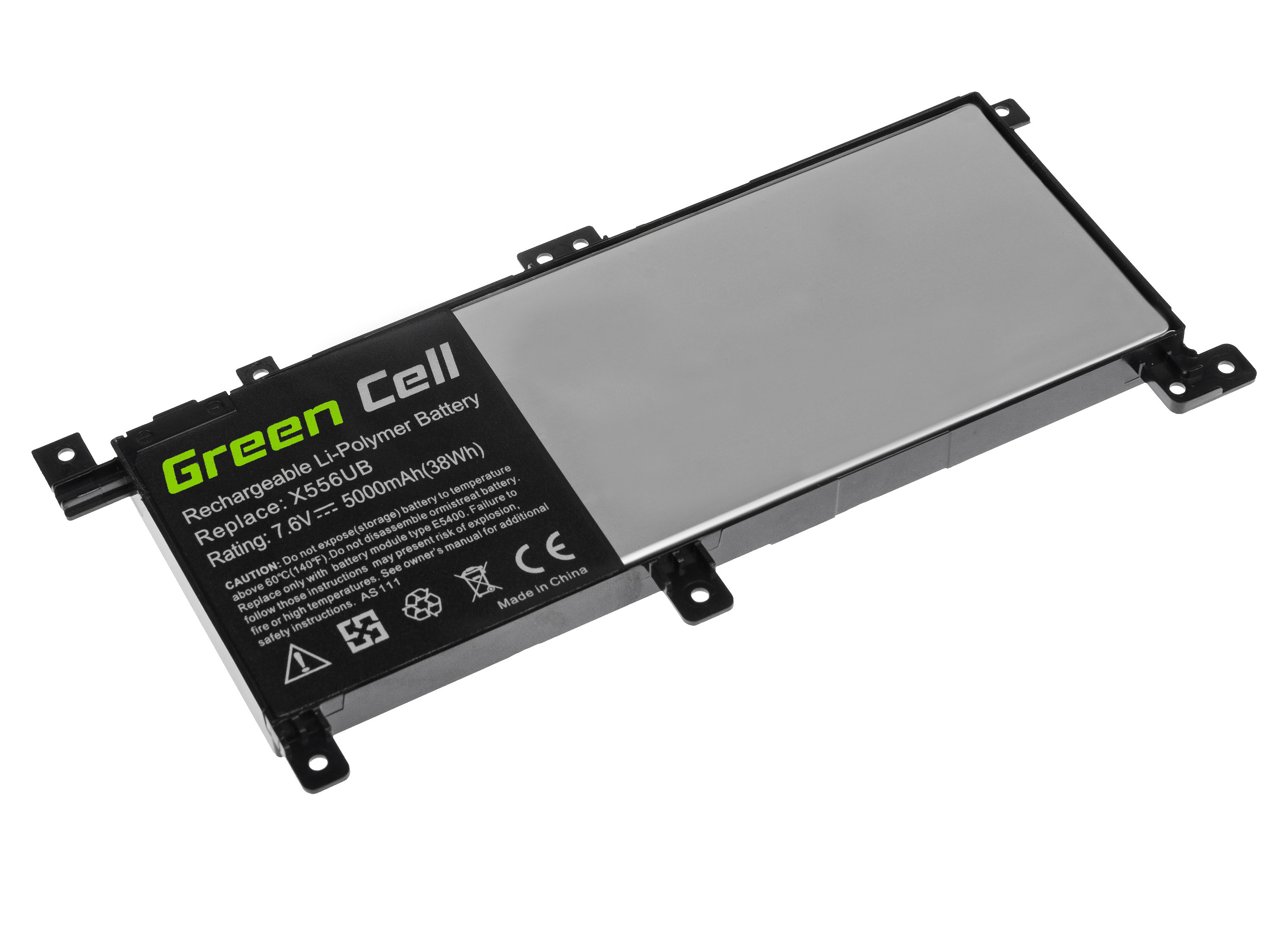 Green Cell Battery for Asus X556U / 7,6V 5000mAh
