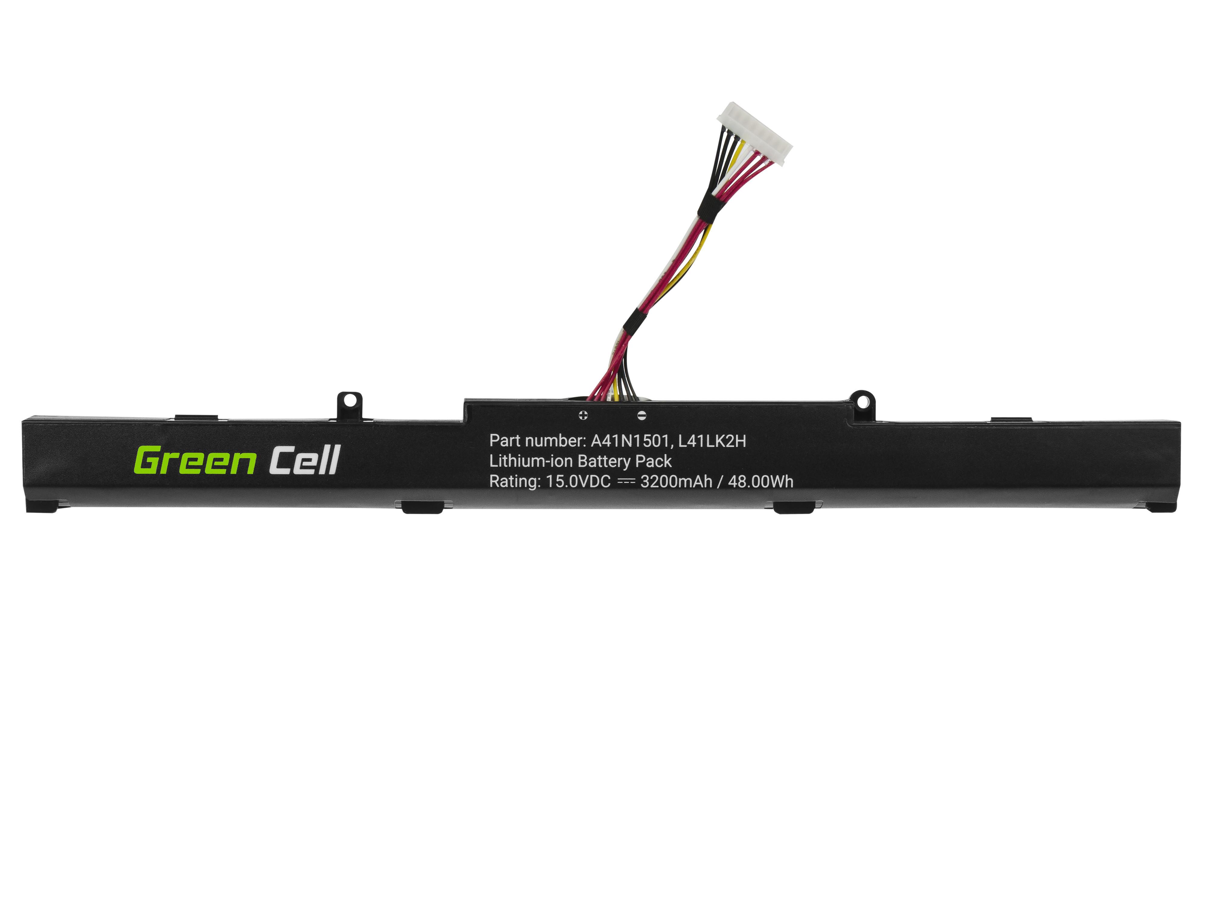 Battery Green Cell A41N1501 for Asus ROG GL752 GL752V GL752VW, Asus VivoBook Pro N552 N552V N552VW N552VX N752 N752V N752VX