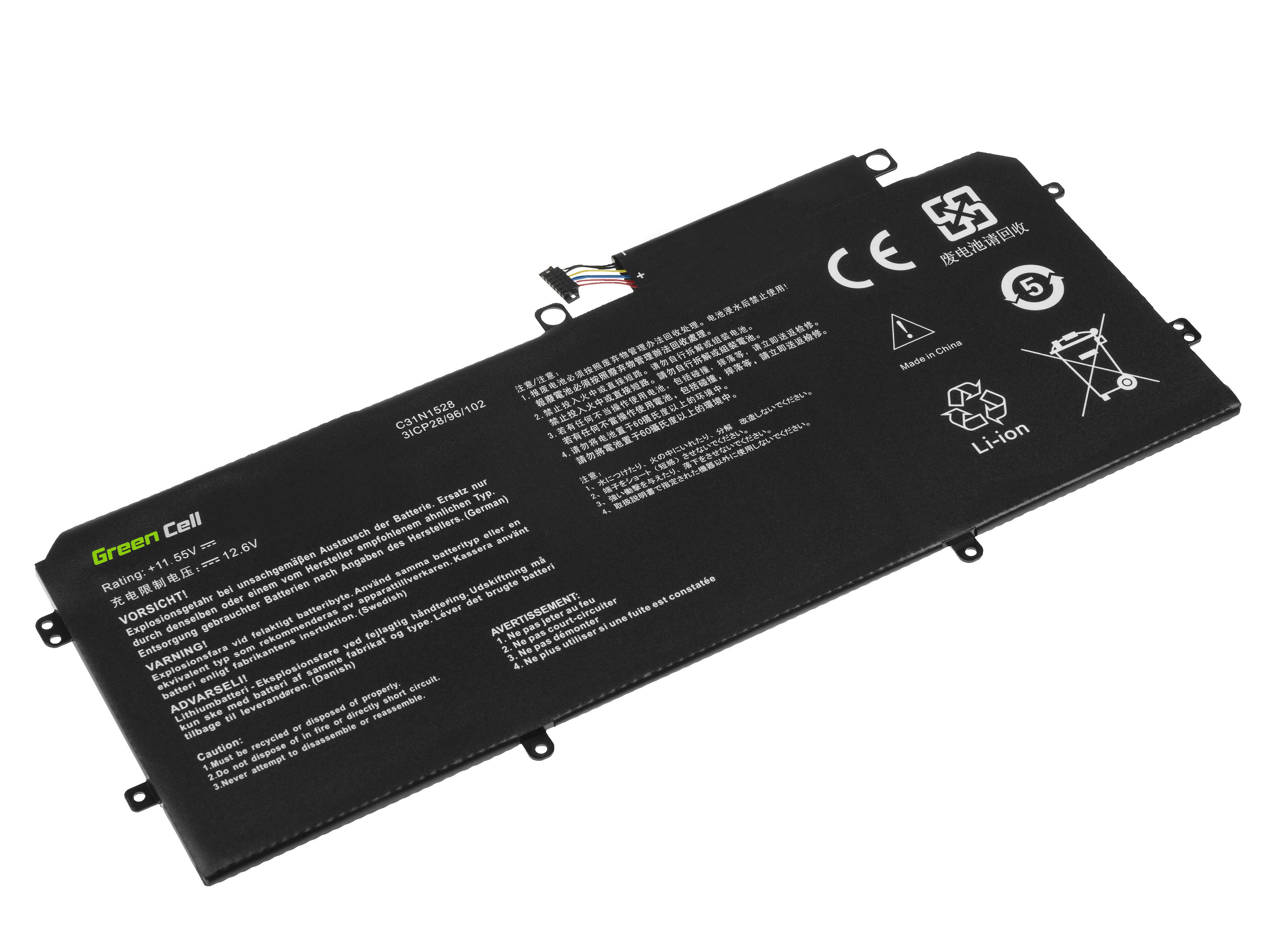 Green Cell AS152 Baterie Asus C31N1528 pro Asus ZenBook Flip UX360C UX360CA 3000mAh Li-Pol – neoriginální