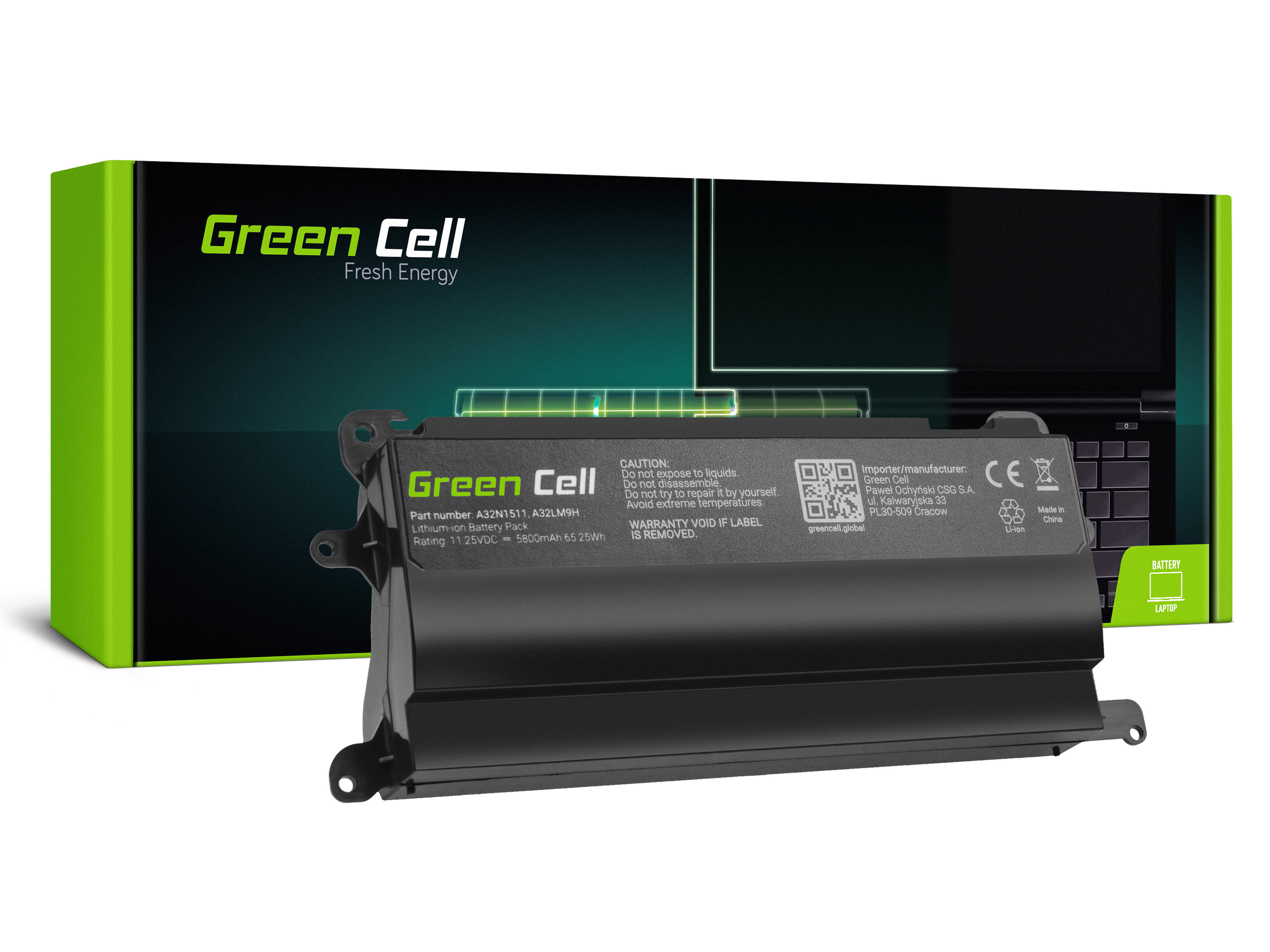 Bateria Green Cell A32N1511 do Asus ROG G752VL G752VM G752VT