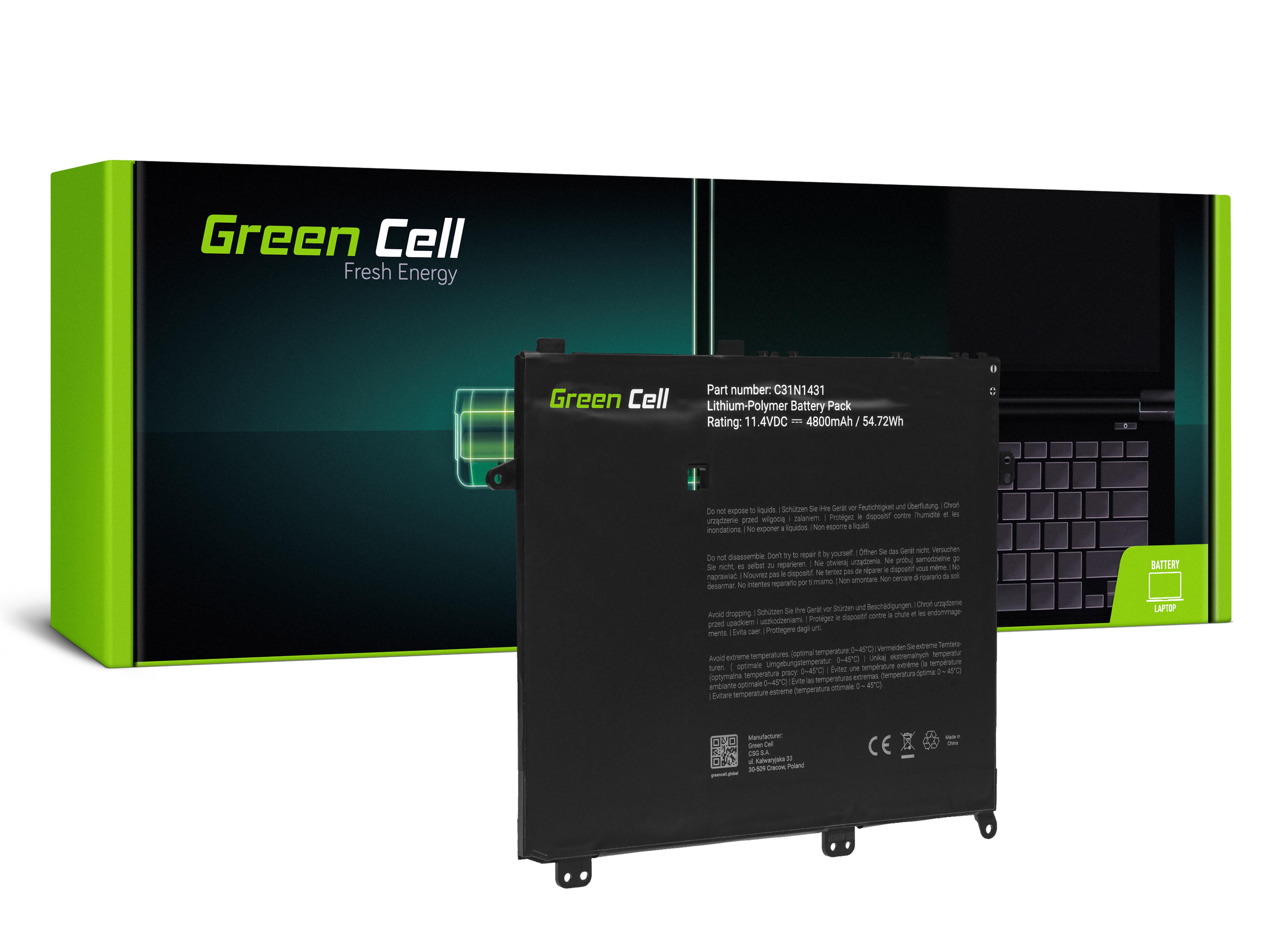 Green Cell Baterie C31N1431 pro Asus E403 E403N E403NA E403S E403SA