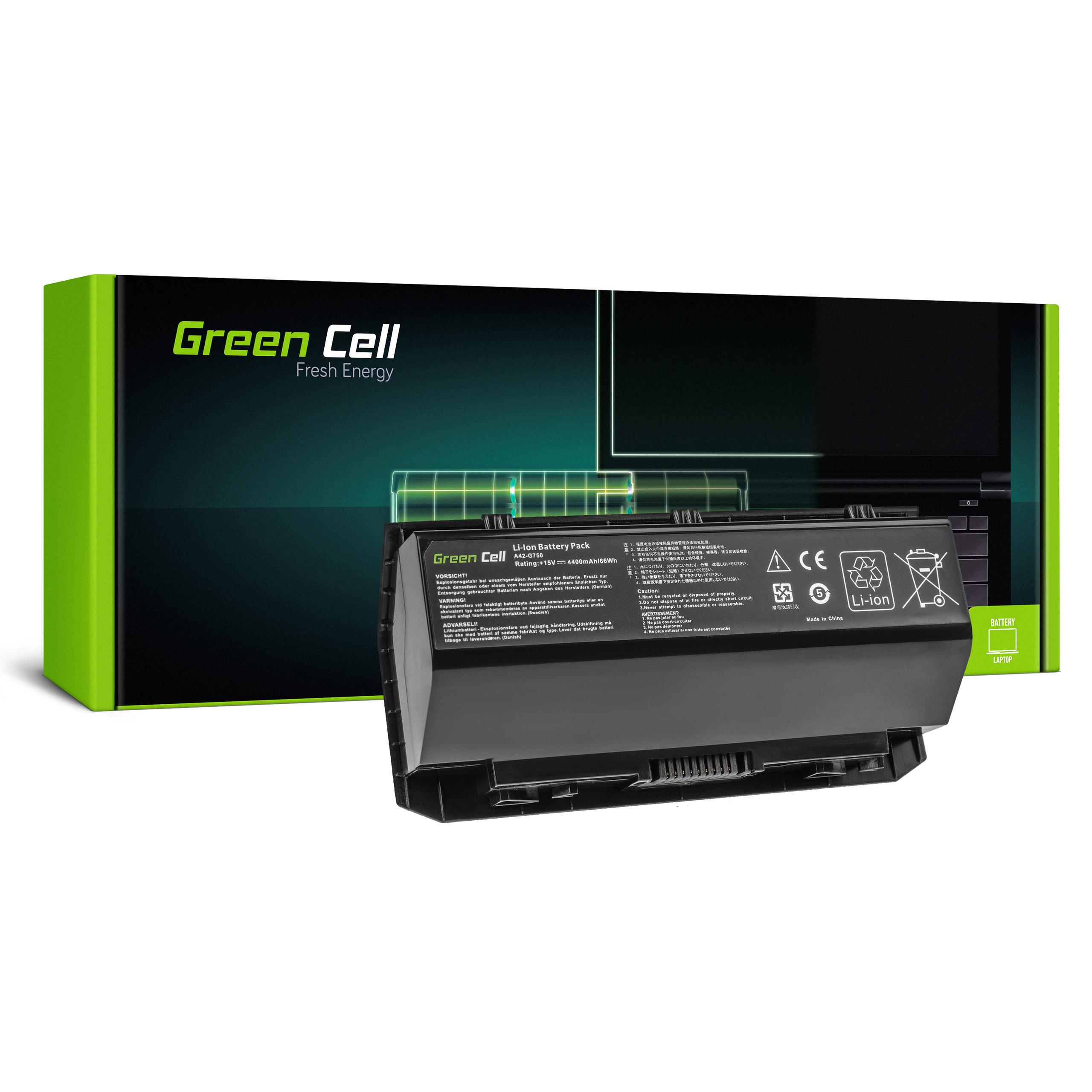 Battery Green Cell A42-G750 for Asus G750 G750J G750JH G750JM G750JS G750JW G750JX G750JZ
