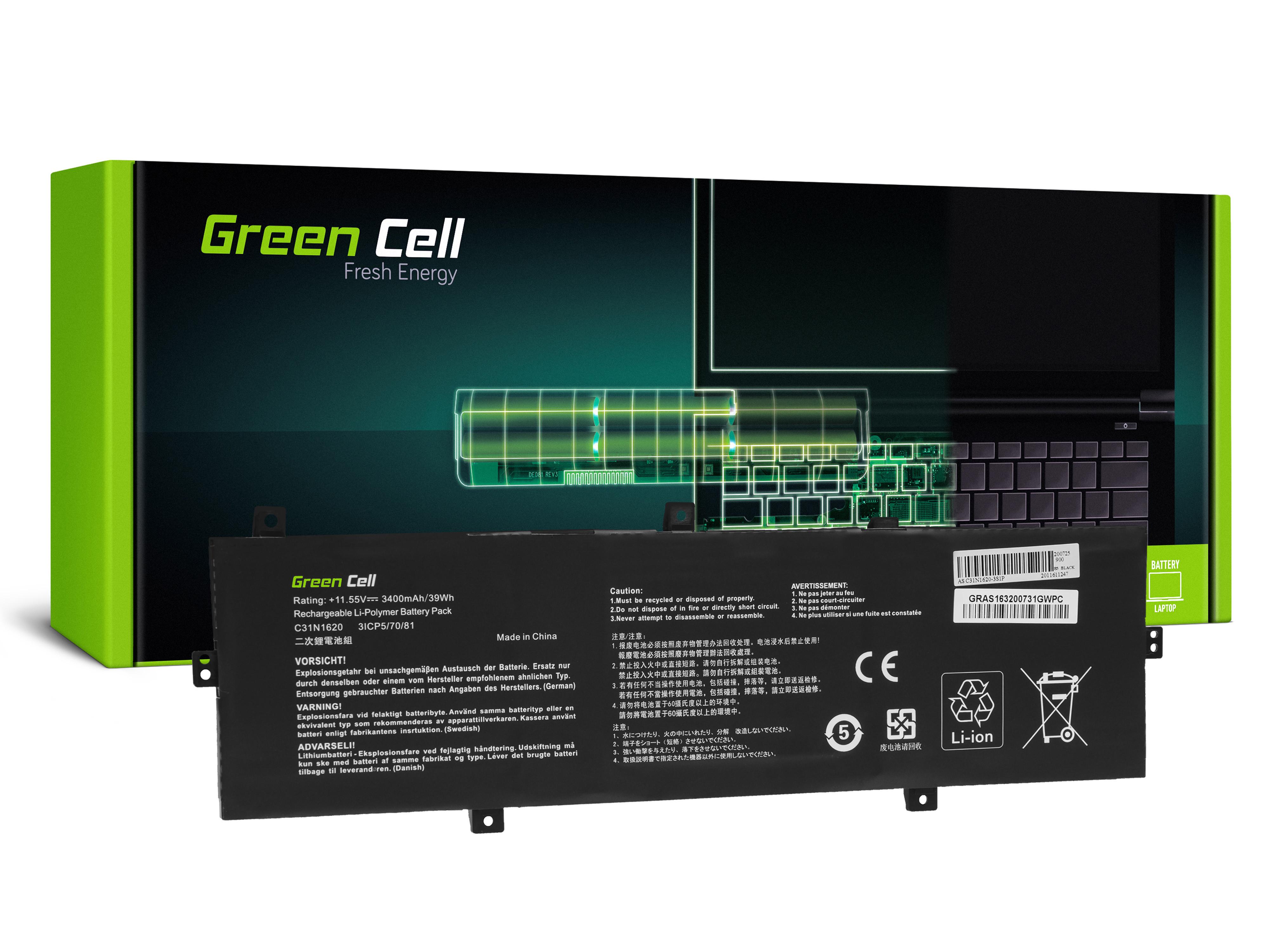 Green Cell Baterie C31N1620 pro Asus ZenBook UX430 UX430U UX430UA UX430UN UX430UQ