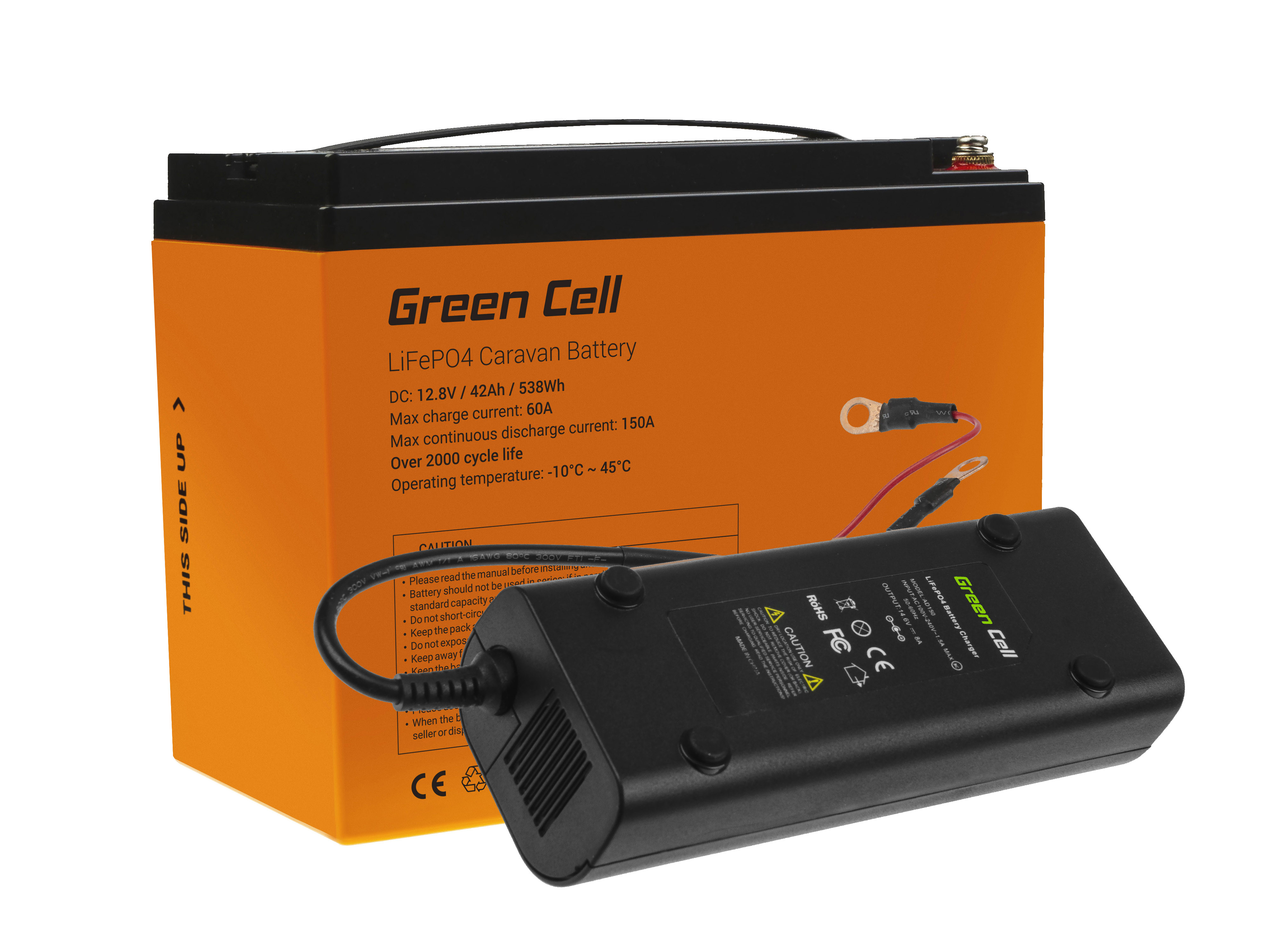 Green Cell LiFePO4 battery 42Ah 12.8V 538Wh lithium iron phosphate battery photovoltaic system