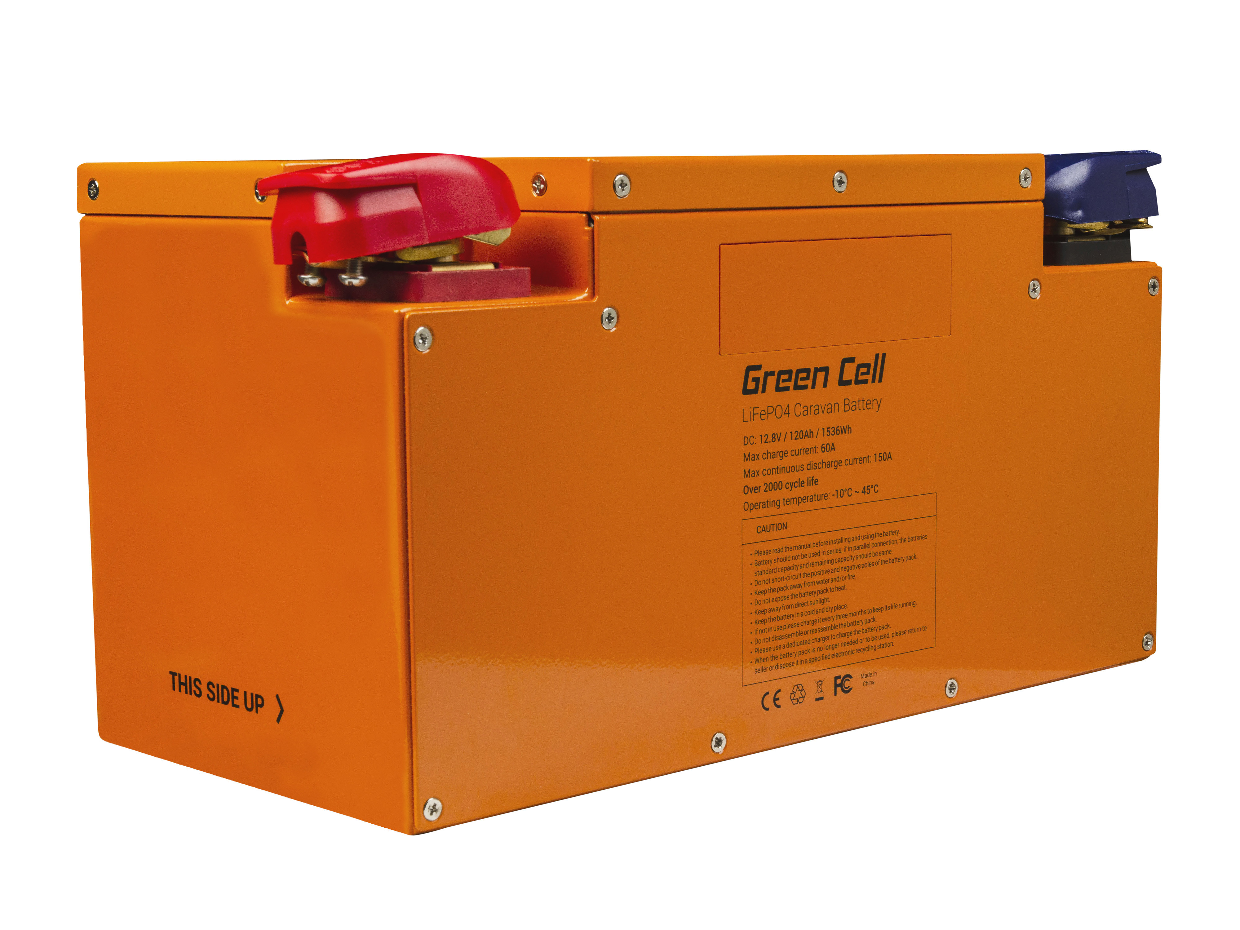 Green Cell LiFePO4 Baterie 120Ah 12.8V 1535Wh
