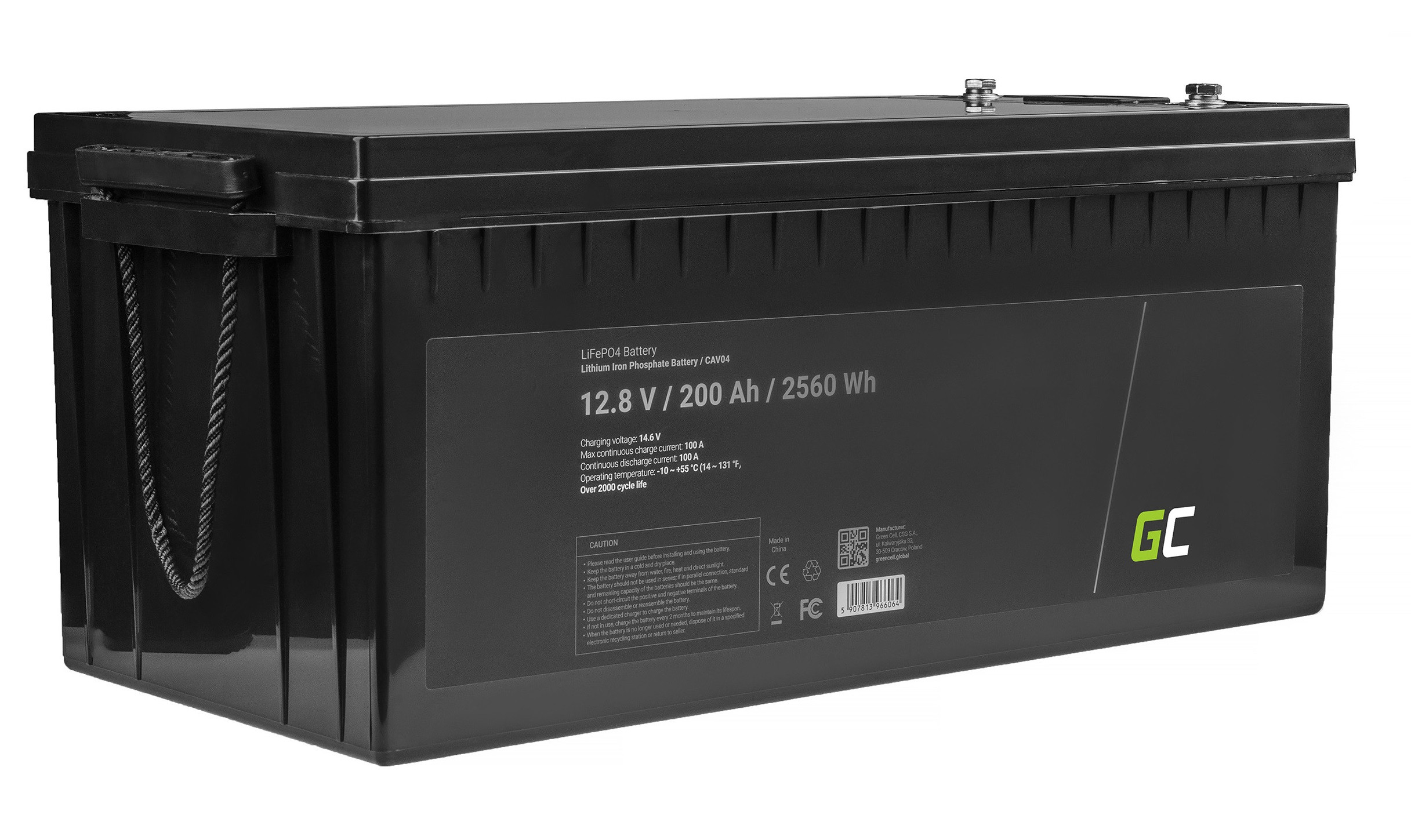 LiFePO4 battery 200Ah 12.8V 2560Wh lithium iron phosphate battery photovoltaic system camping truck