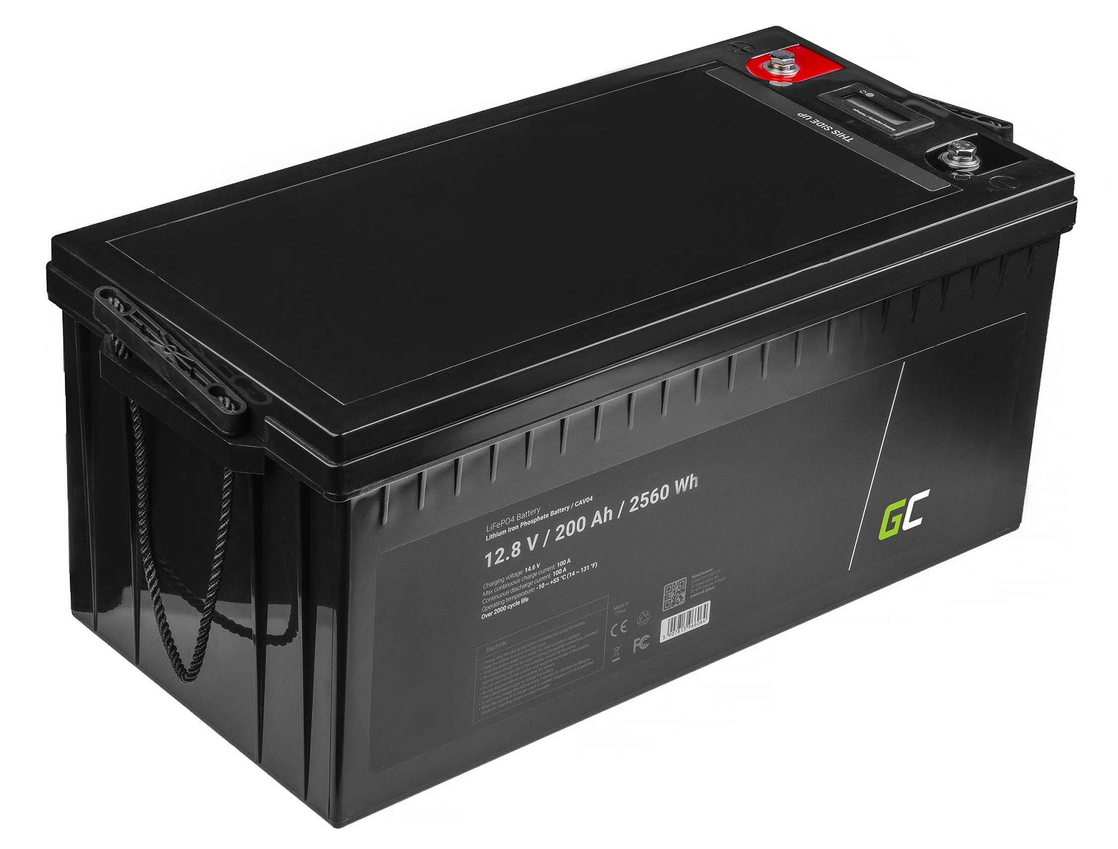 Green Cell LiFePO4 Baterie 200Ah 12.8V 2560Wh