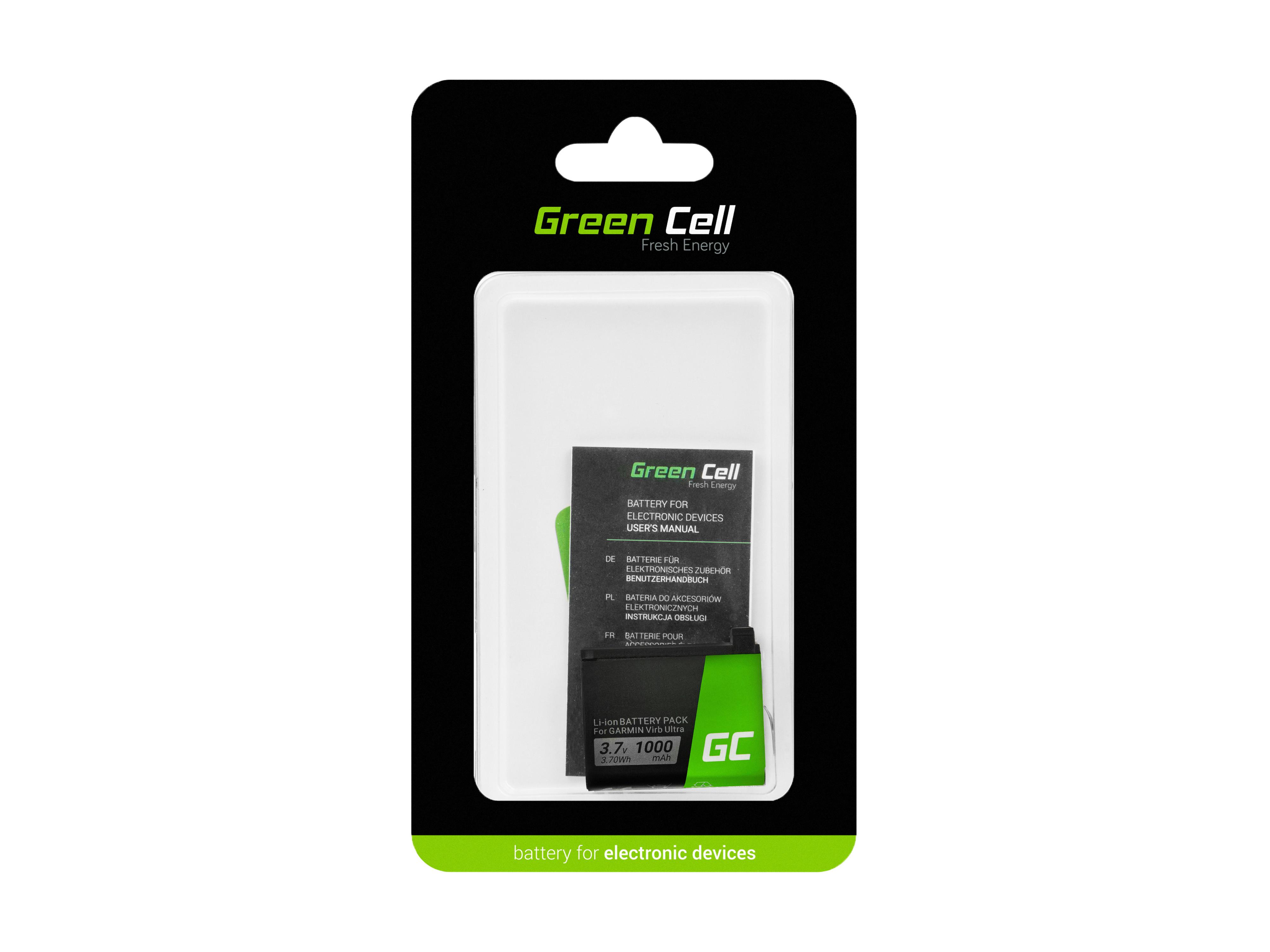 Green Cell Baterie pro Garmin Virb Ultra 30 3.7V 1000mAh