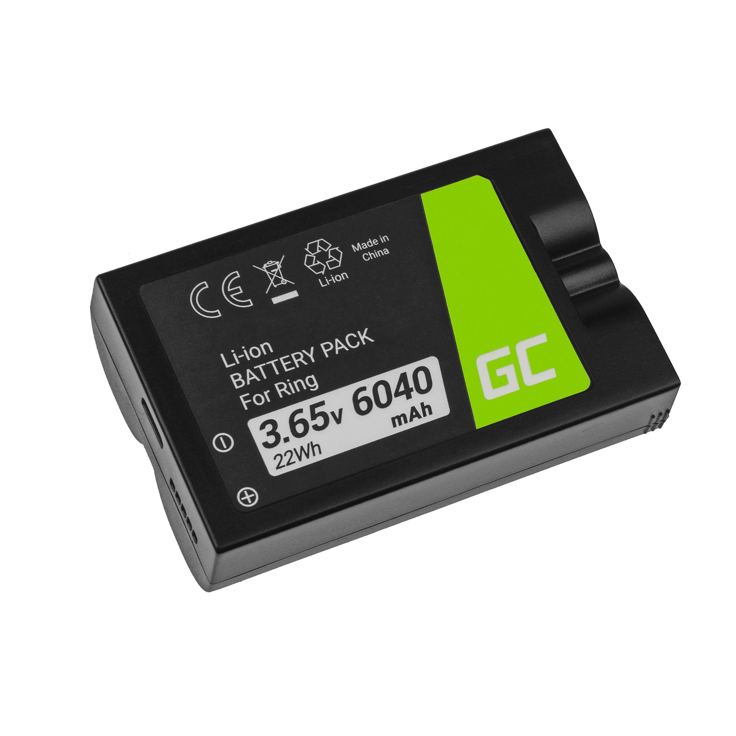 Green Cell Baterie pro RING Video Doorbell 2, Doorbell 3, Doorbell 3 Plus 3.65V 6040mAh