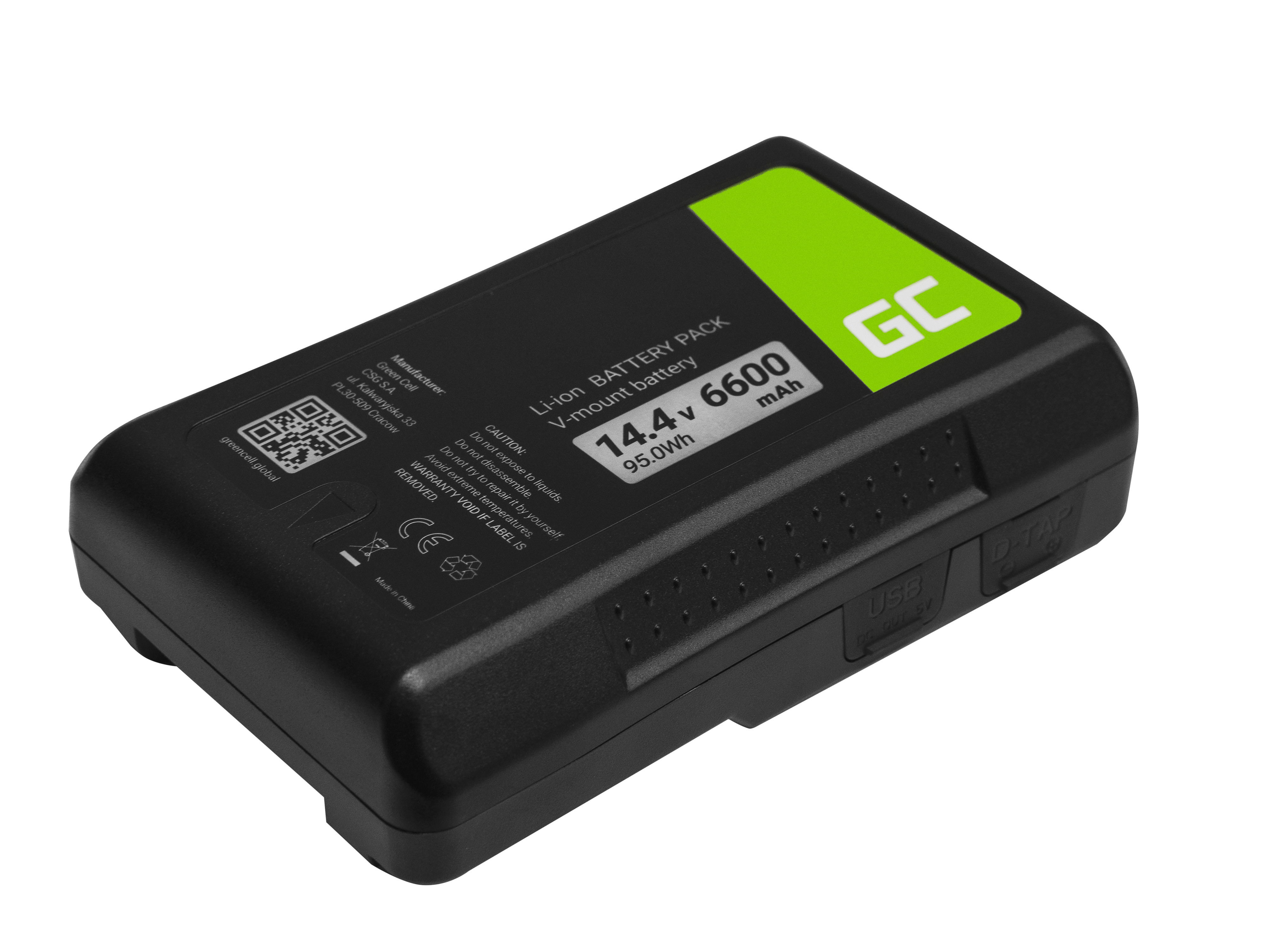 Green Cell Baterie V-Mount pro Sony BP-95W 6600mAh 95Wh 14.4V